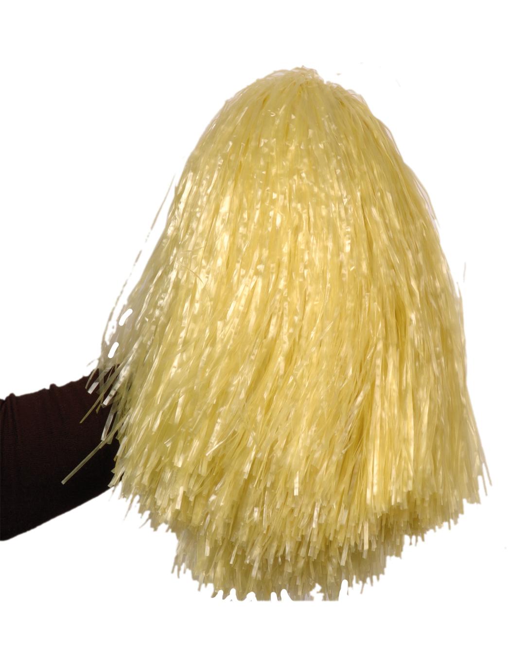 Pompon jaune paille m tallique achat de accessoires sur vegaoopro grossiste en d guisements - Couleur jaune paille ...