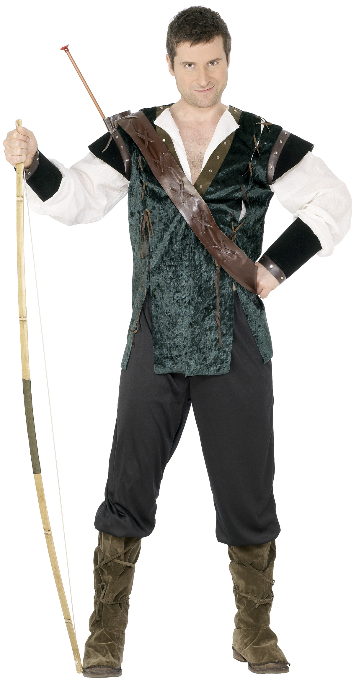 Costume for archer from the middle ages for men