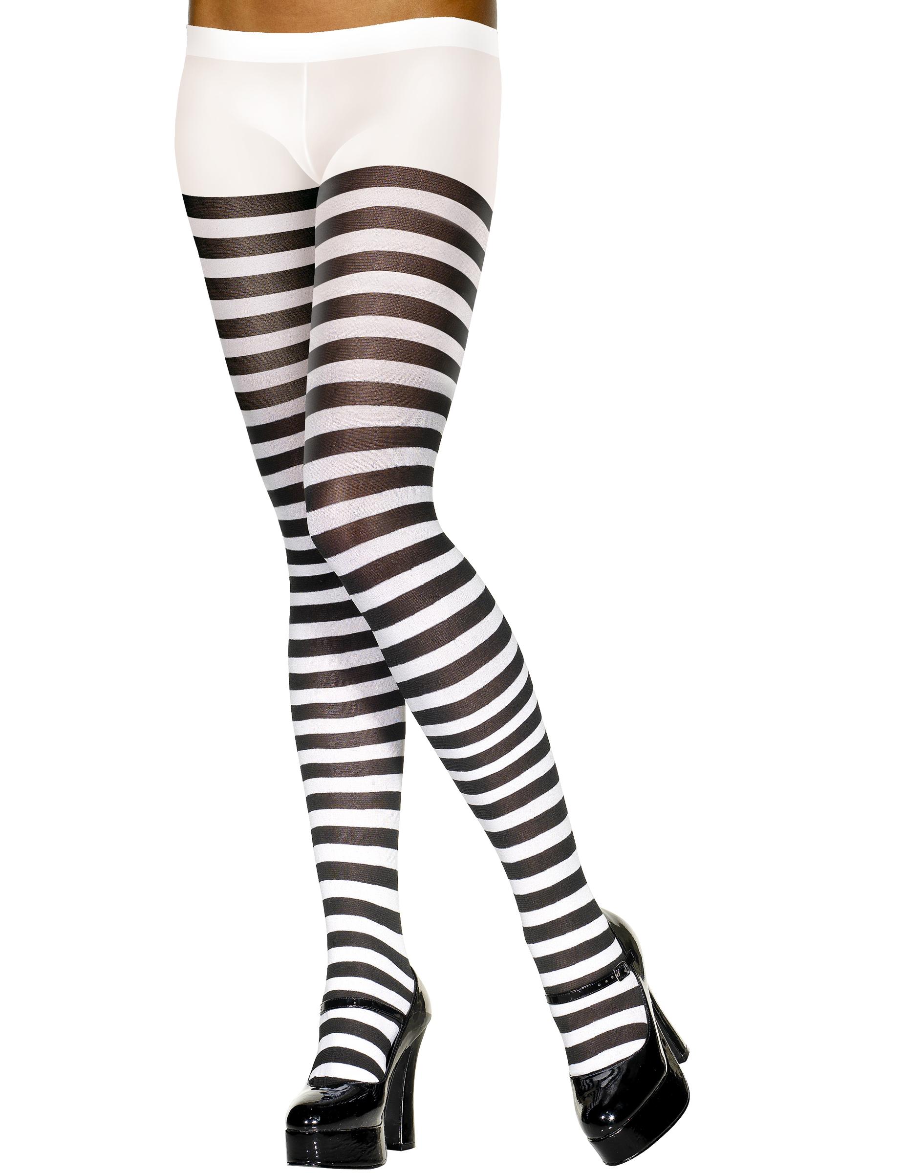 collants ray s noir et blanc femme deguise toi achat de. Black Bedroom Furniture Sets. Home Design Ideas
