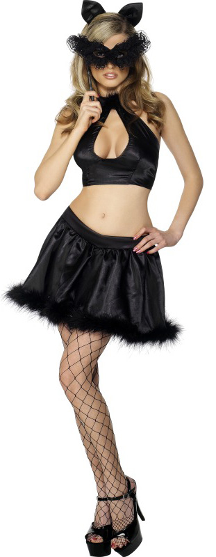 d guisement chat sexy femme halloween. Black Bedroom Furniture Sets. Home Design Ideas
