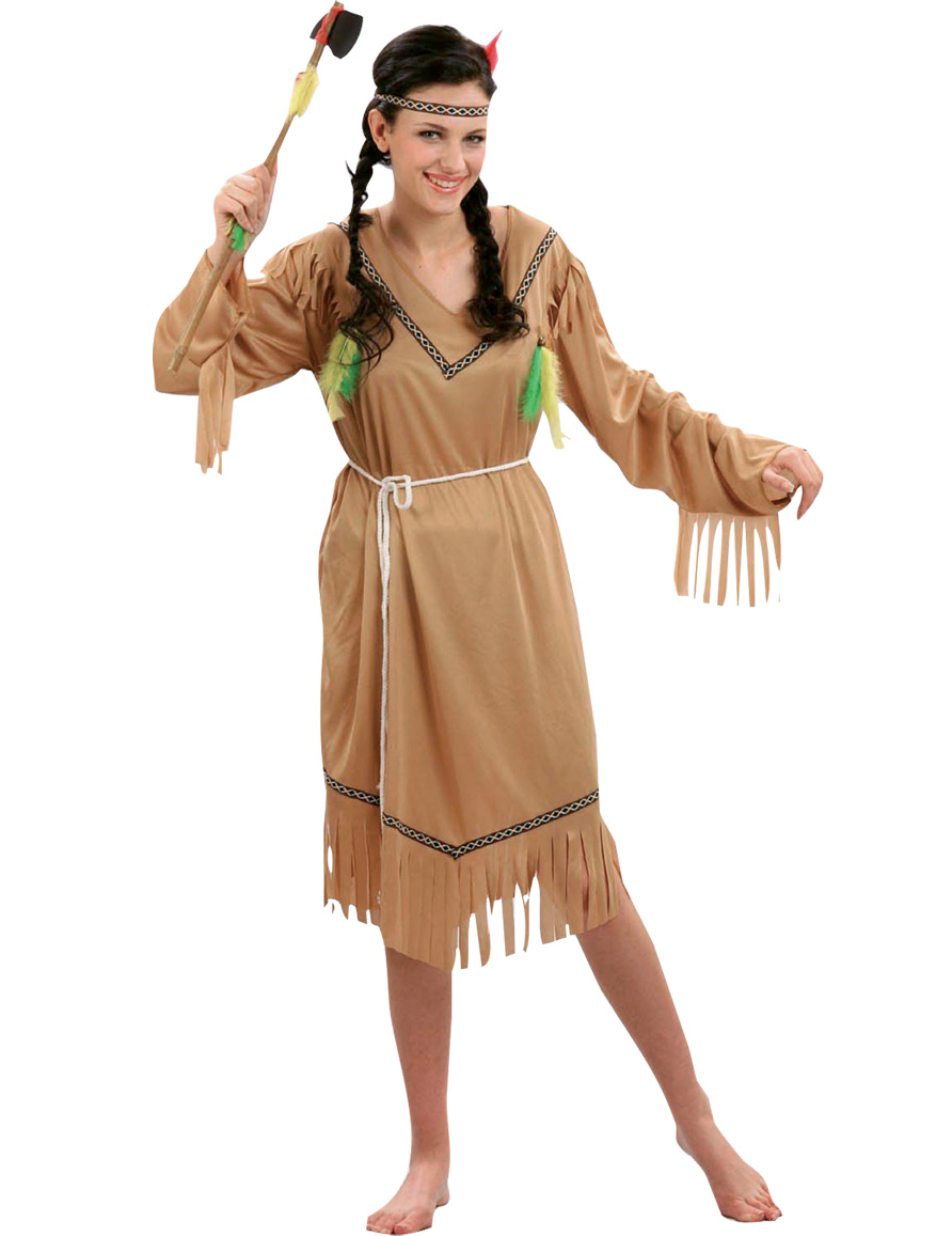 pale red indian costume for women adults costumes and fancy dress costumes vegaoo. Black Bedroom Furniture Sets. Home Design Ideas