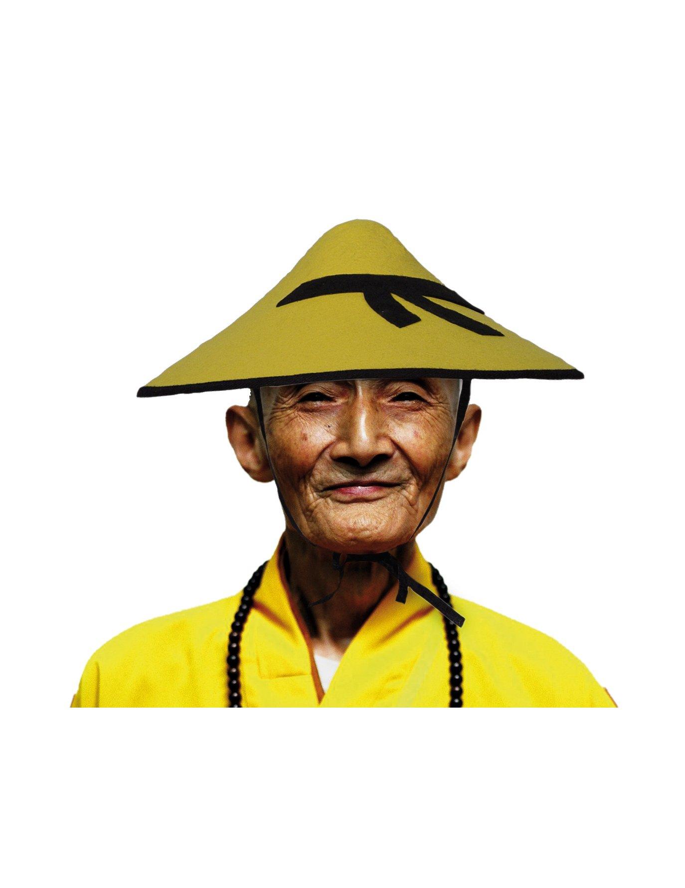 MOI, VÉNÉRABLE CHINOIS . Chapeau-chinois-jaune-adulte