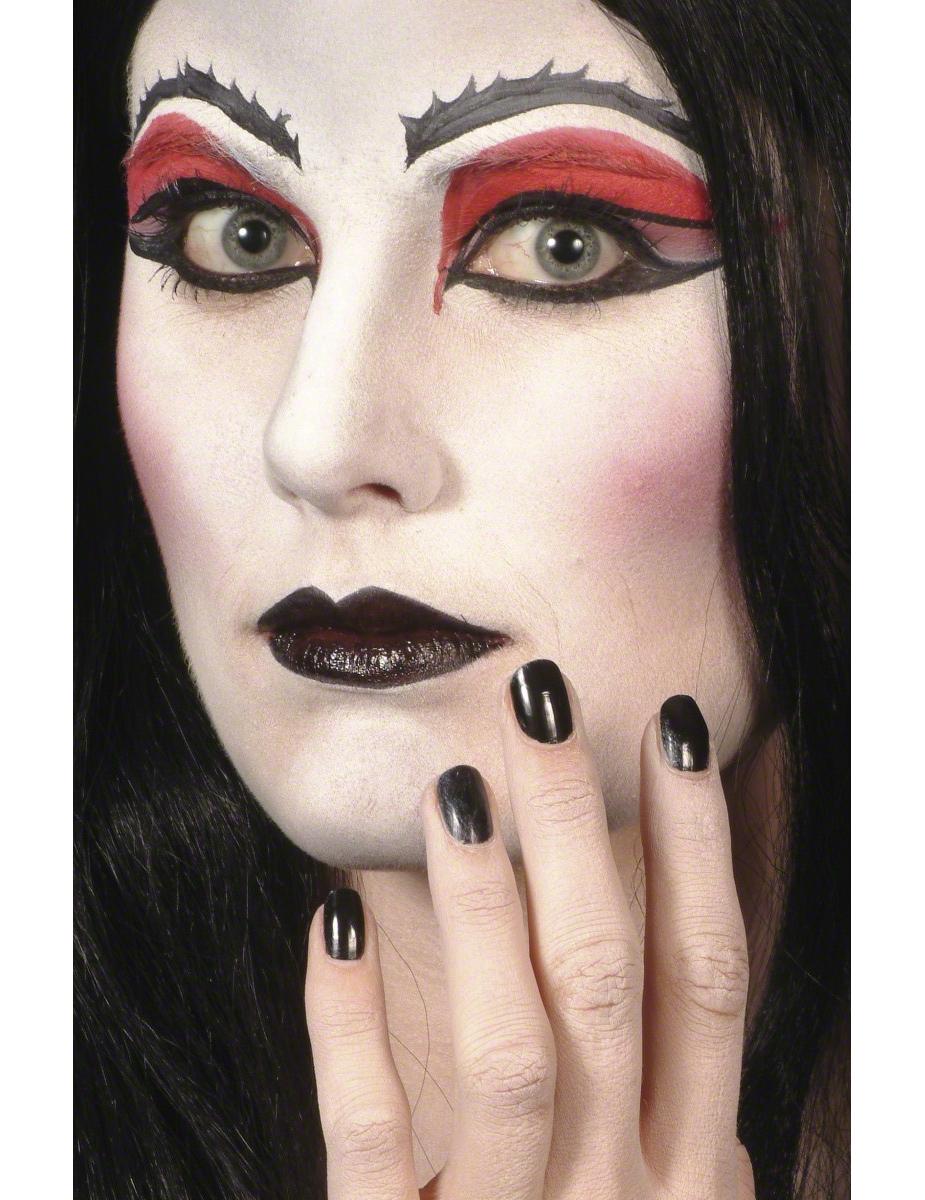 maquillage halloween noir et rouge