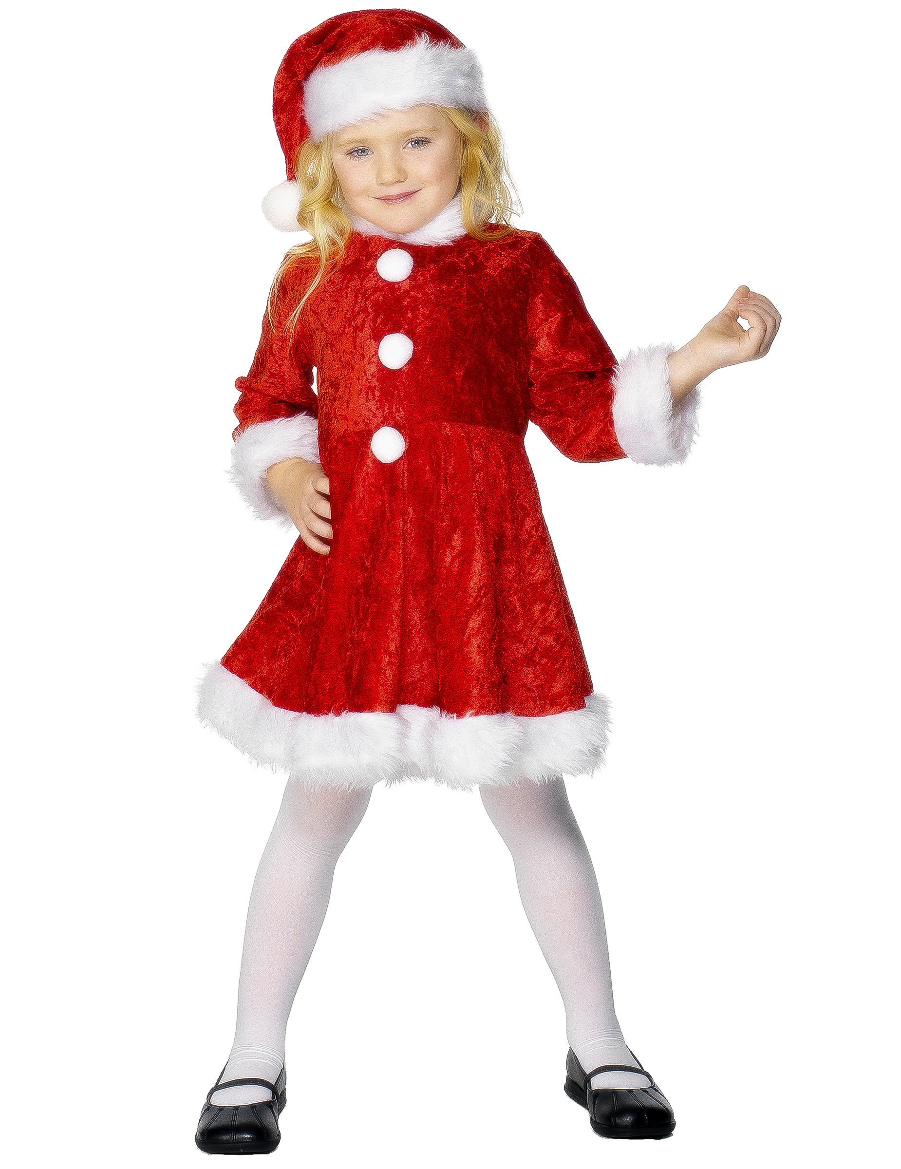santa costume for girls. Black Bedroom Furniture Sets. Home Design Ideas