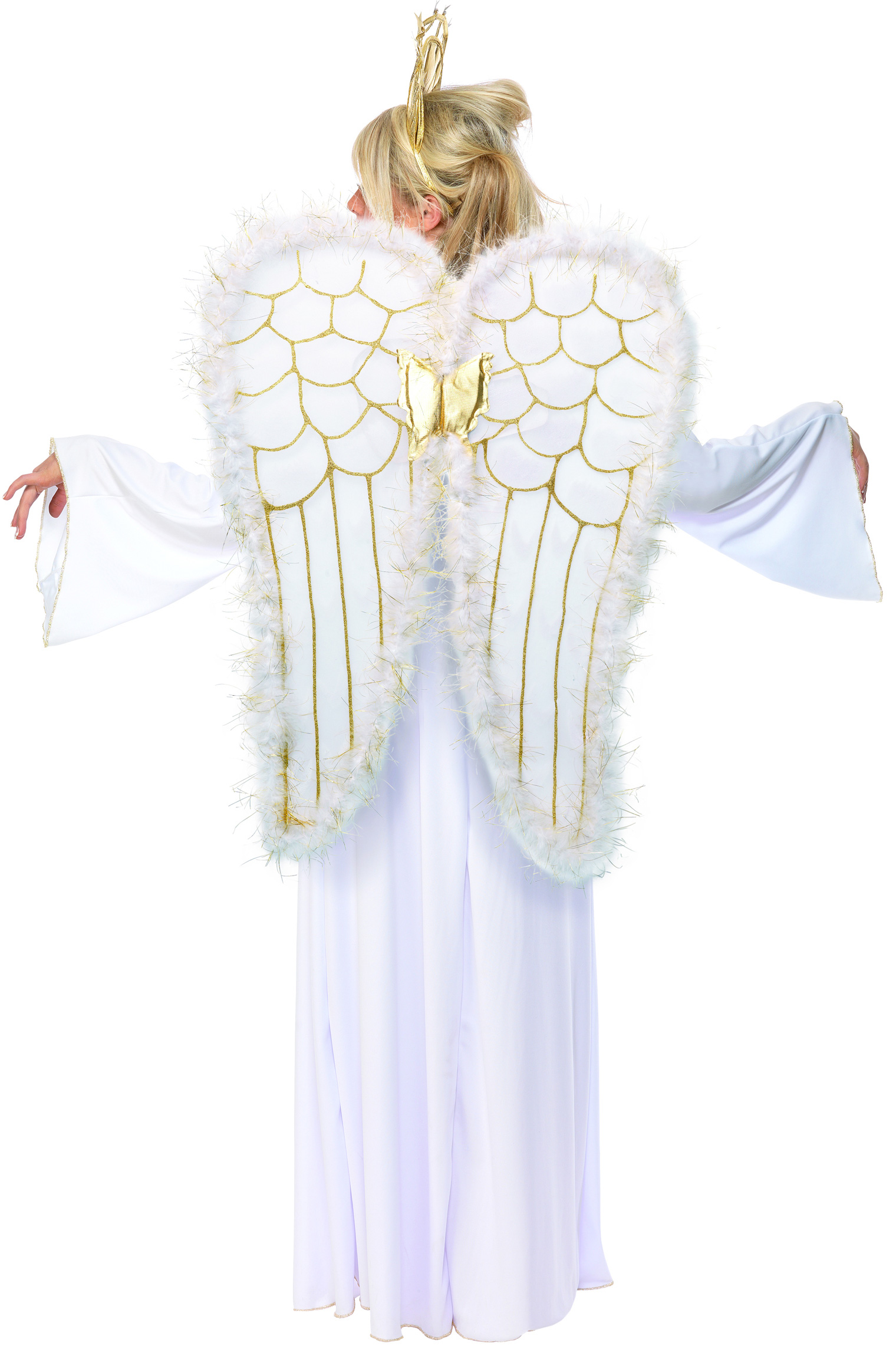 christmas angel costume for women adults costumes and fancy dress costumes vegaoo. Black Bedroom Furniture Sets. Home Design Ideas