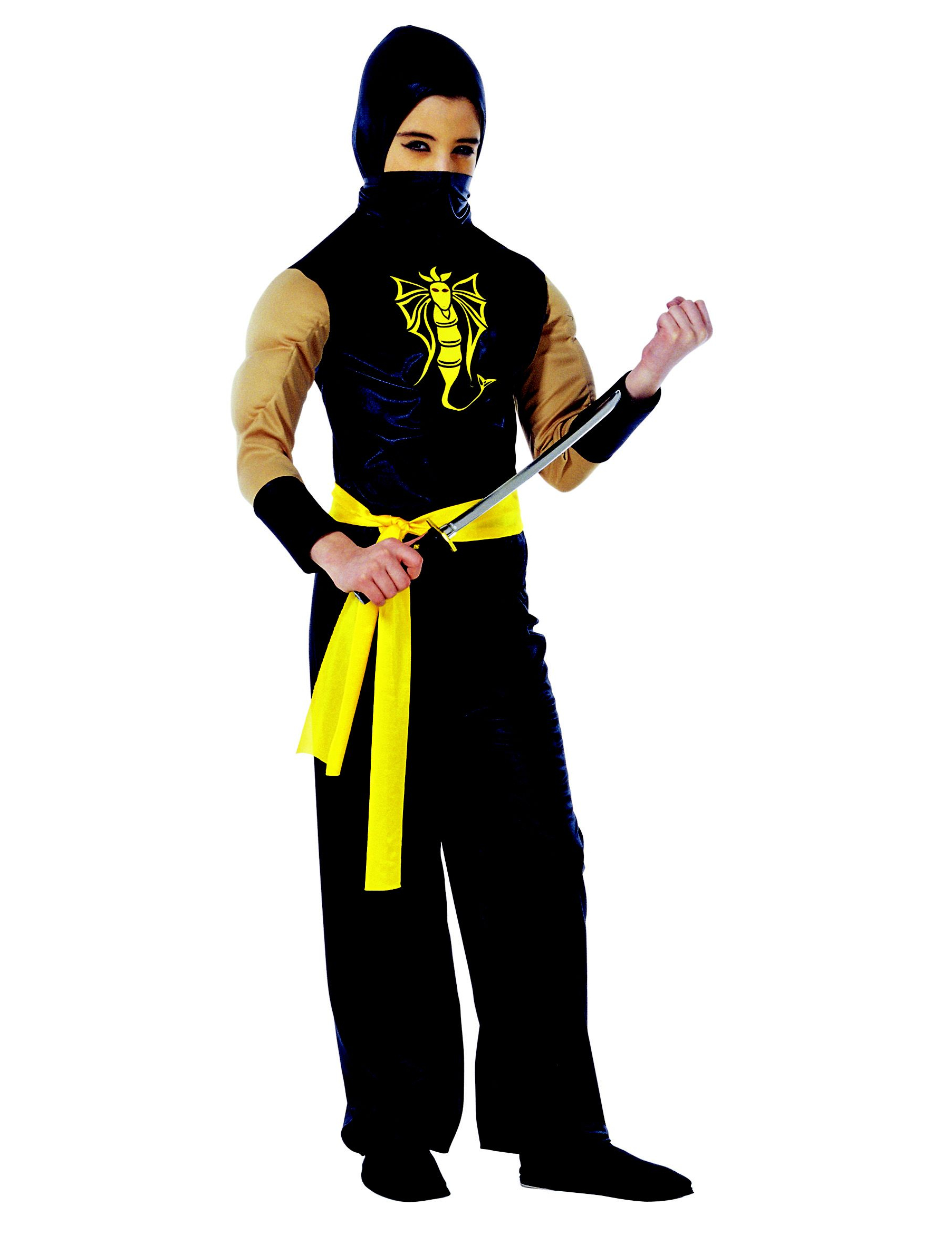 muscular ninja costume. Black Bedroom Furniture Sets. Home Design Ideas