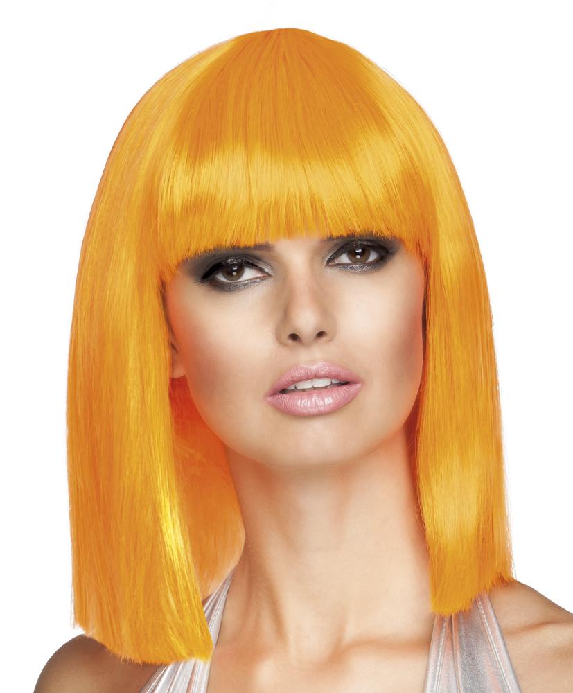 perruque carr mi long orange femme deguise toi achat. Black Bedroom Furniture Sets. Home Design Ideas