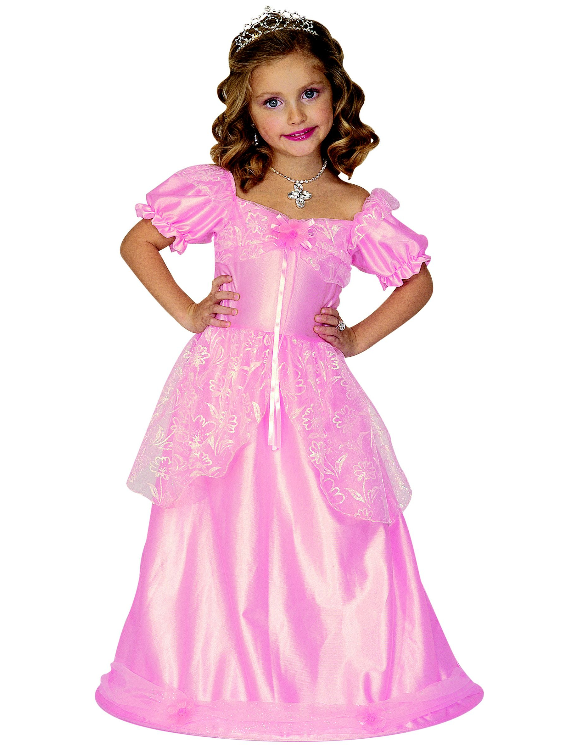 Pink Princess Costume Girls