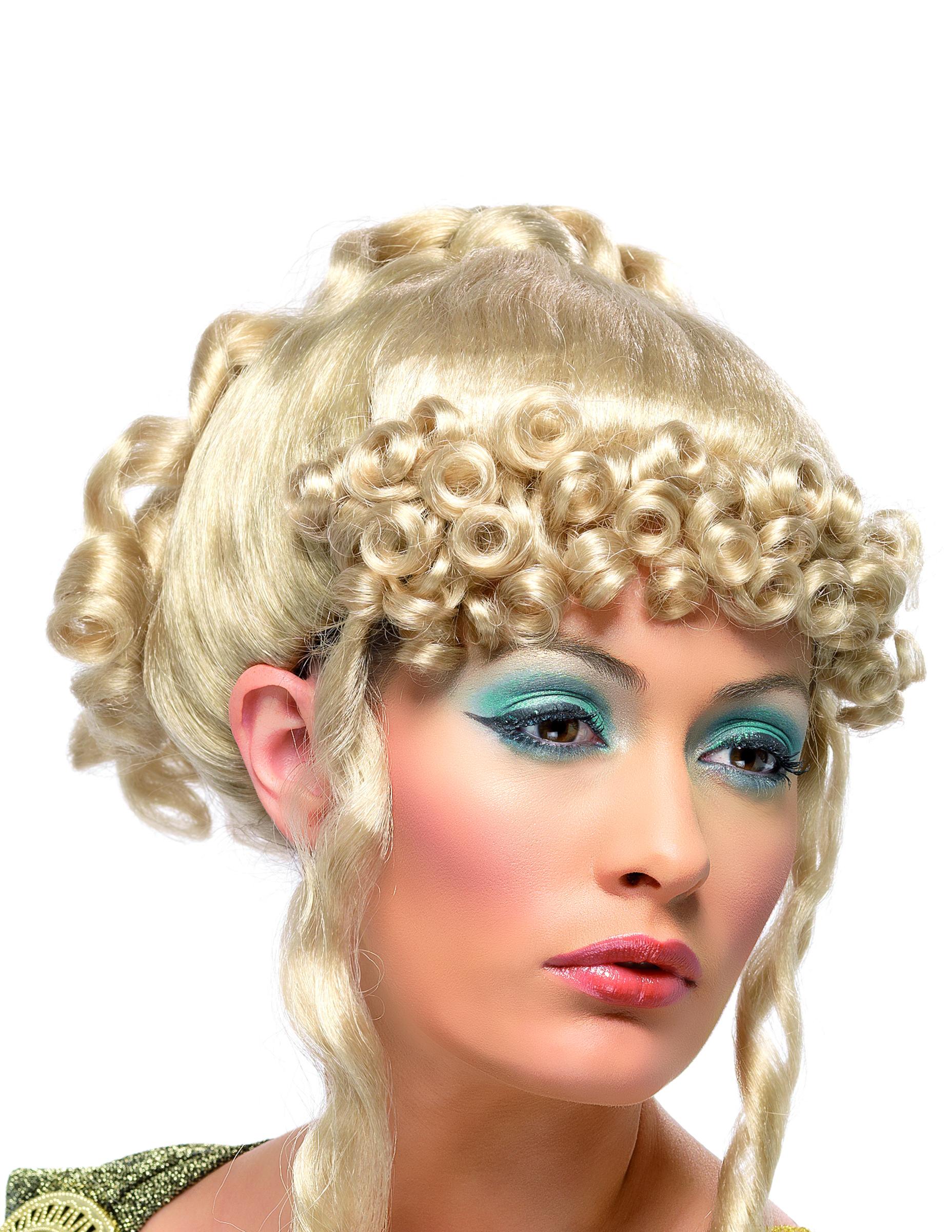 Blonde Damespruik Voor Een Griekse Godin Pruiken