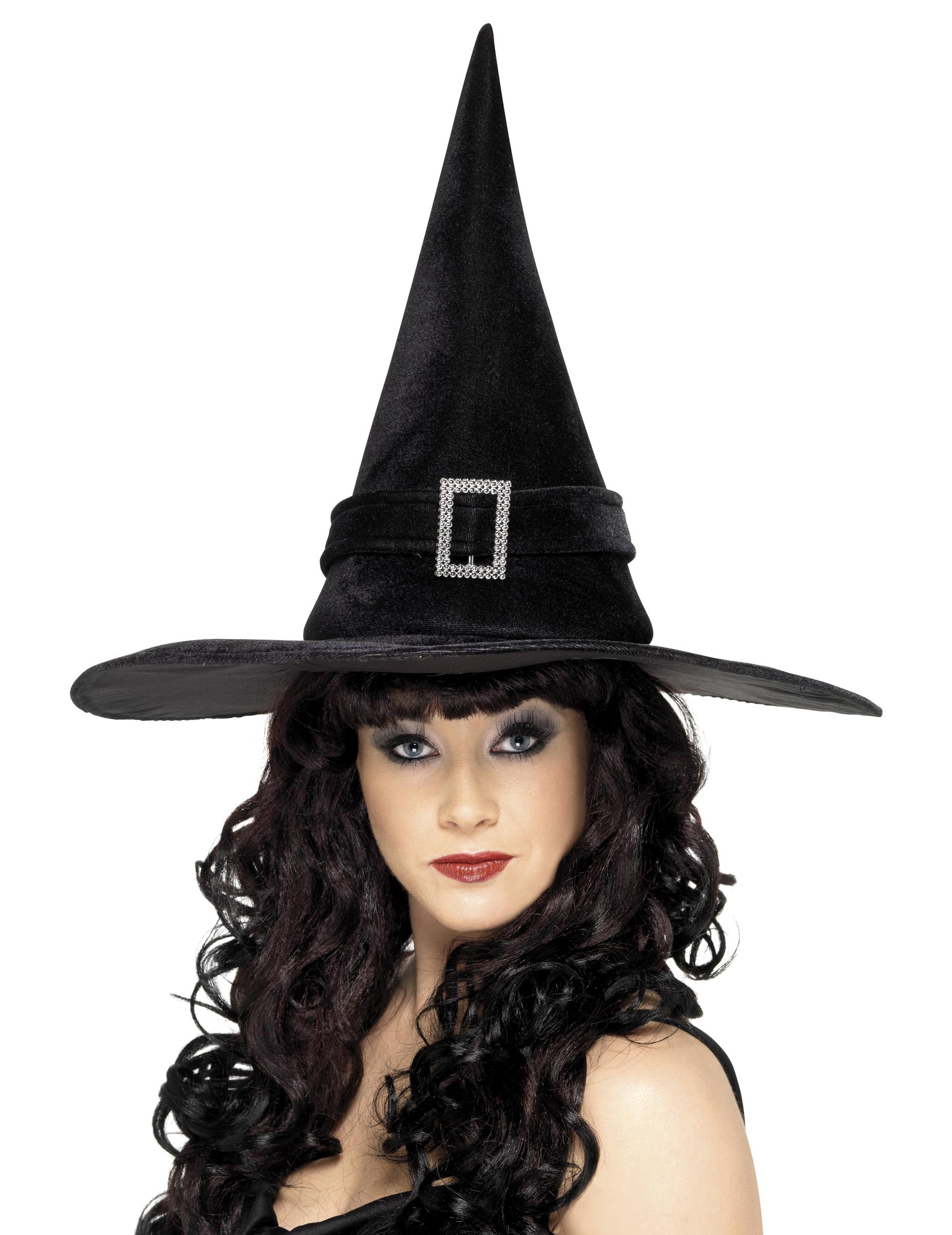 chapeau sorci re noir femme halloween deguise toi achat de chapeaux. Black Bedroom Furniture Sets. Home Design Ideas