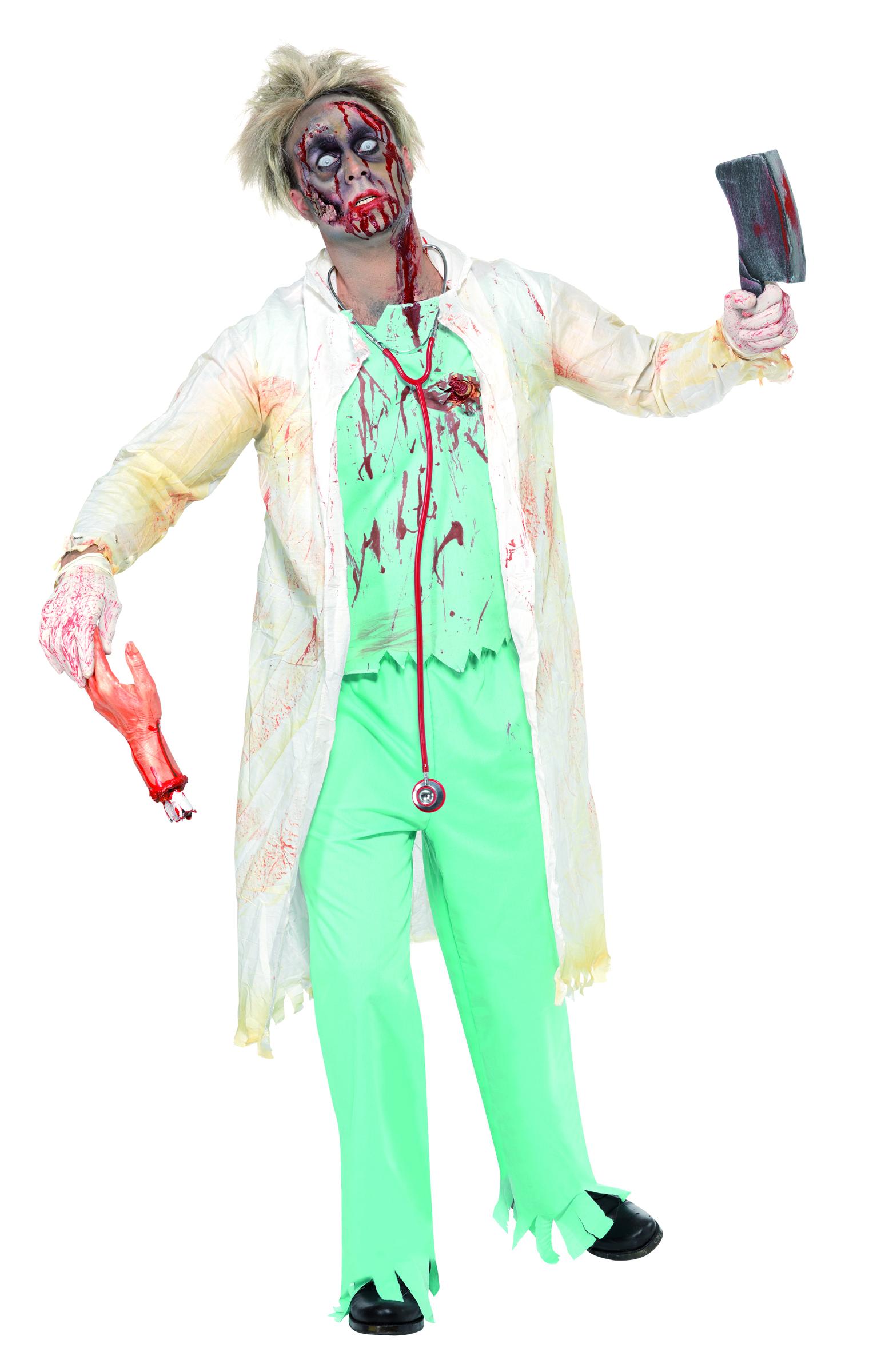 zombie doctor halloween costume for men. Black Bedroom Furniture Sets. Home Design Ideas
