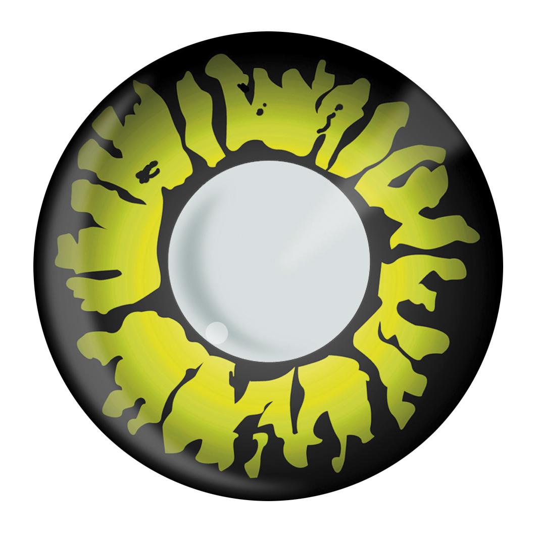 ein paar schwarz gelbe kontaktlinsen f r erwachsene zu. Black Bedroom Furniture Sets. Home Design Ideas