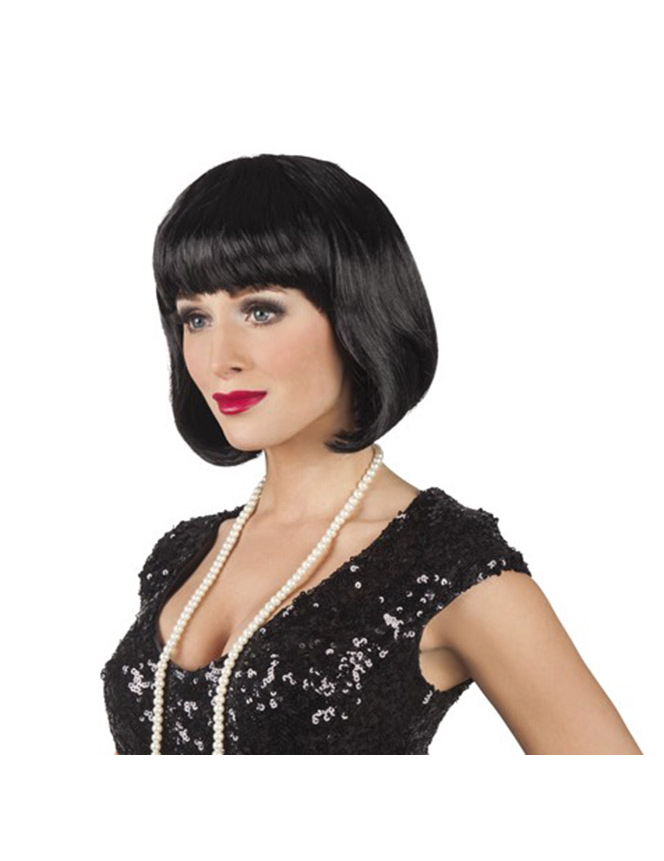 Short black wig for women : Wigs, and fancy dress costumes - Vegaoo