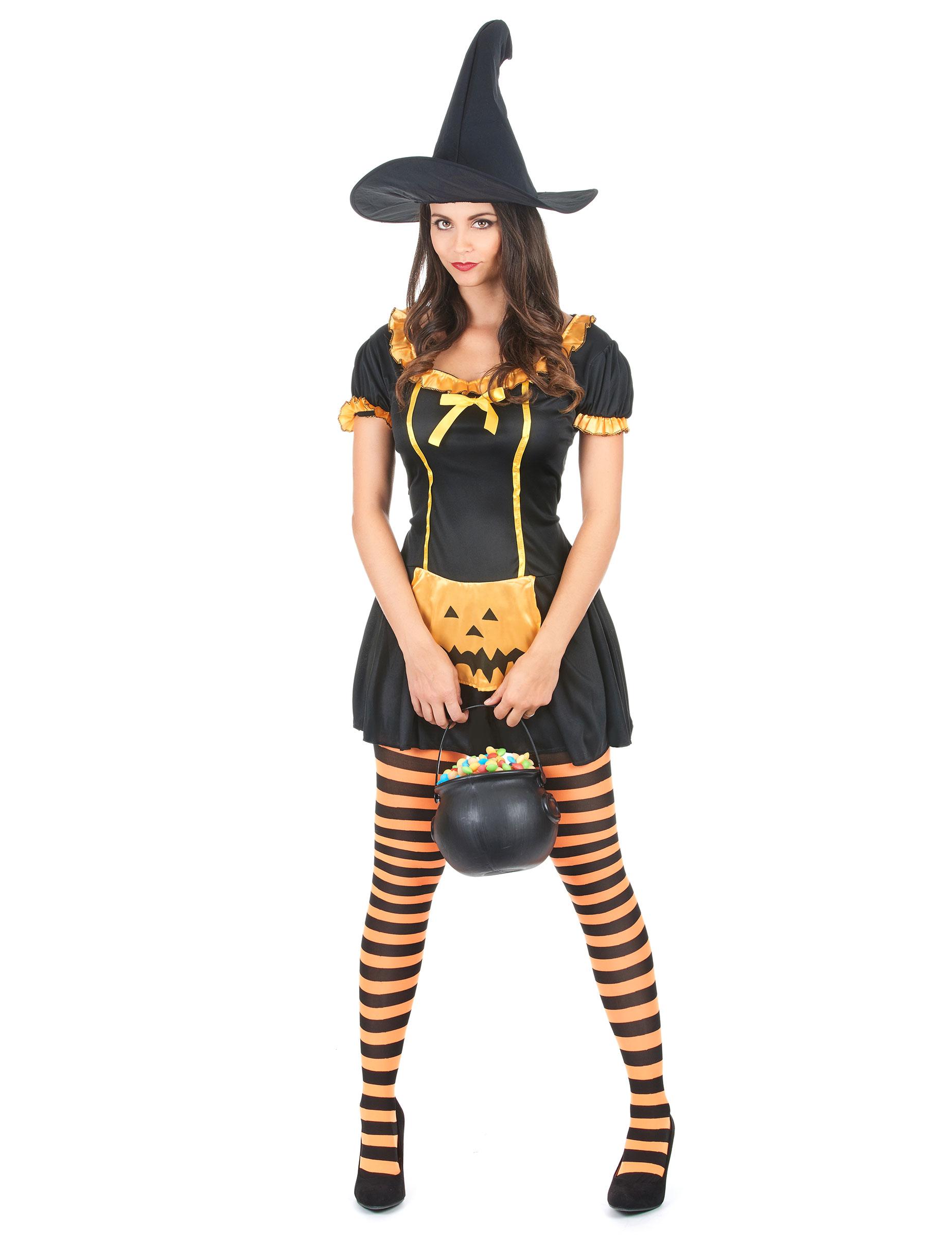 Halloween Pumpkin witch costume for women