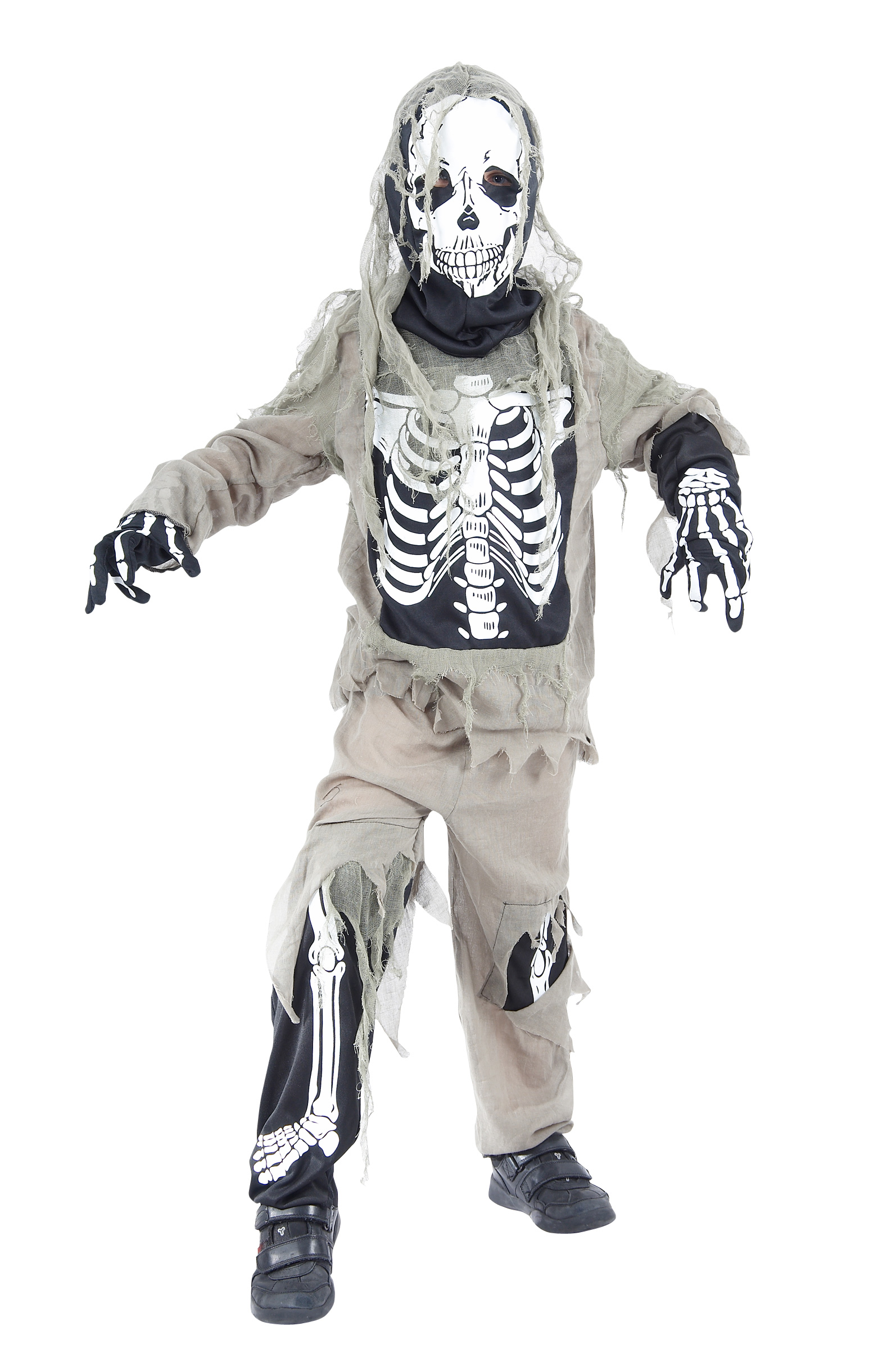 Halloween zombie skeleton costume for boys.