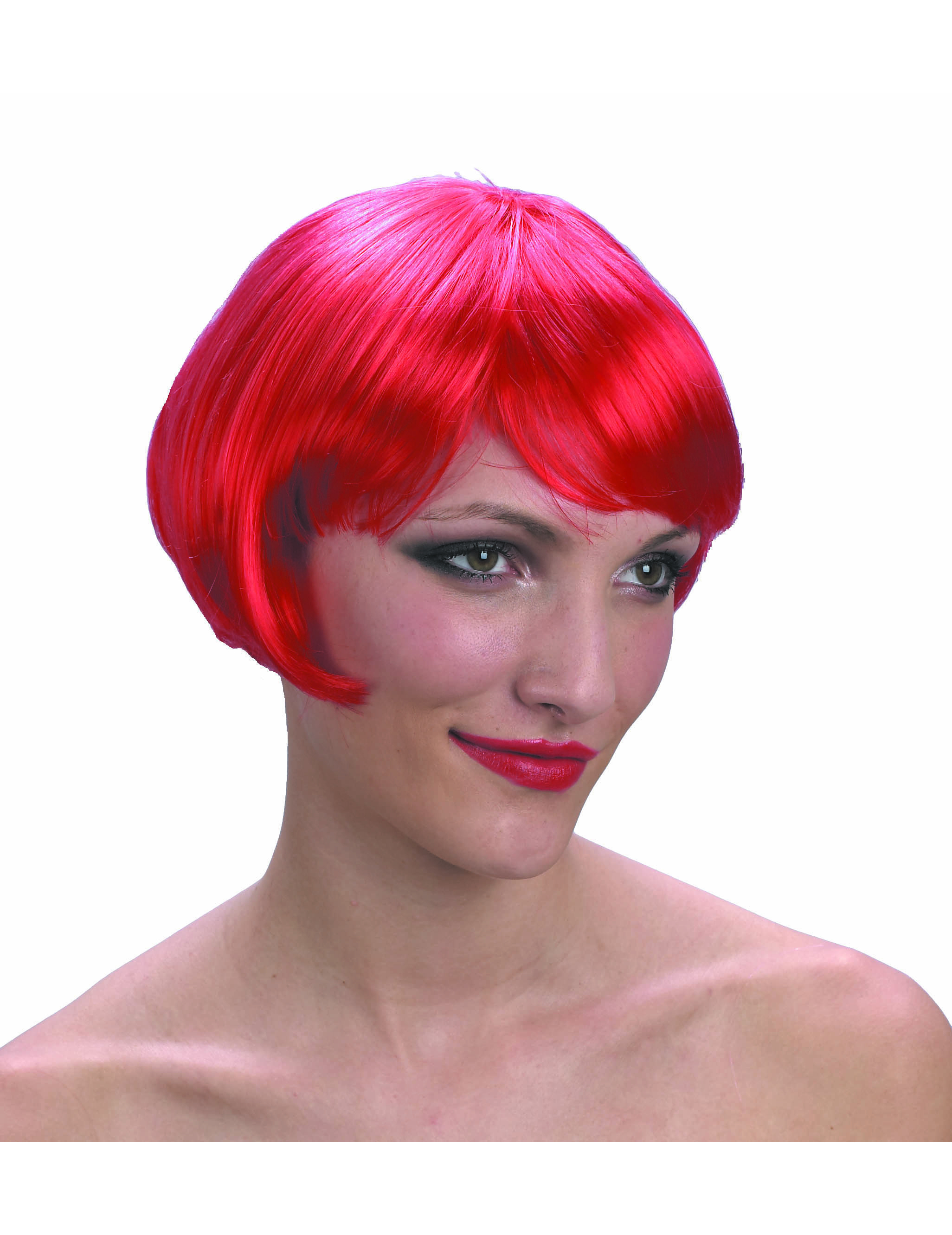 Main - Wigs - Short, red wig for women.