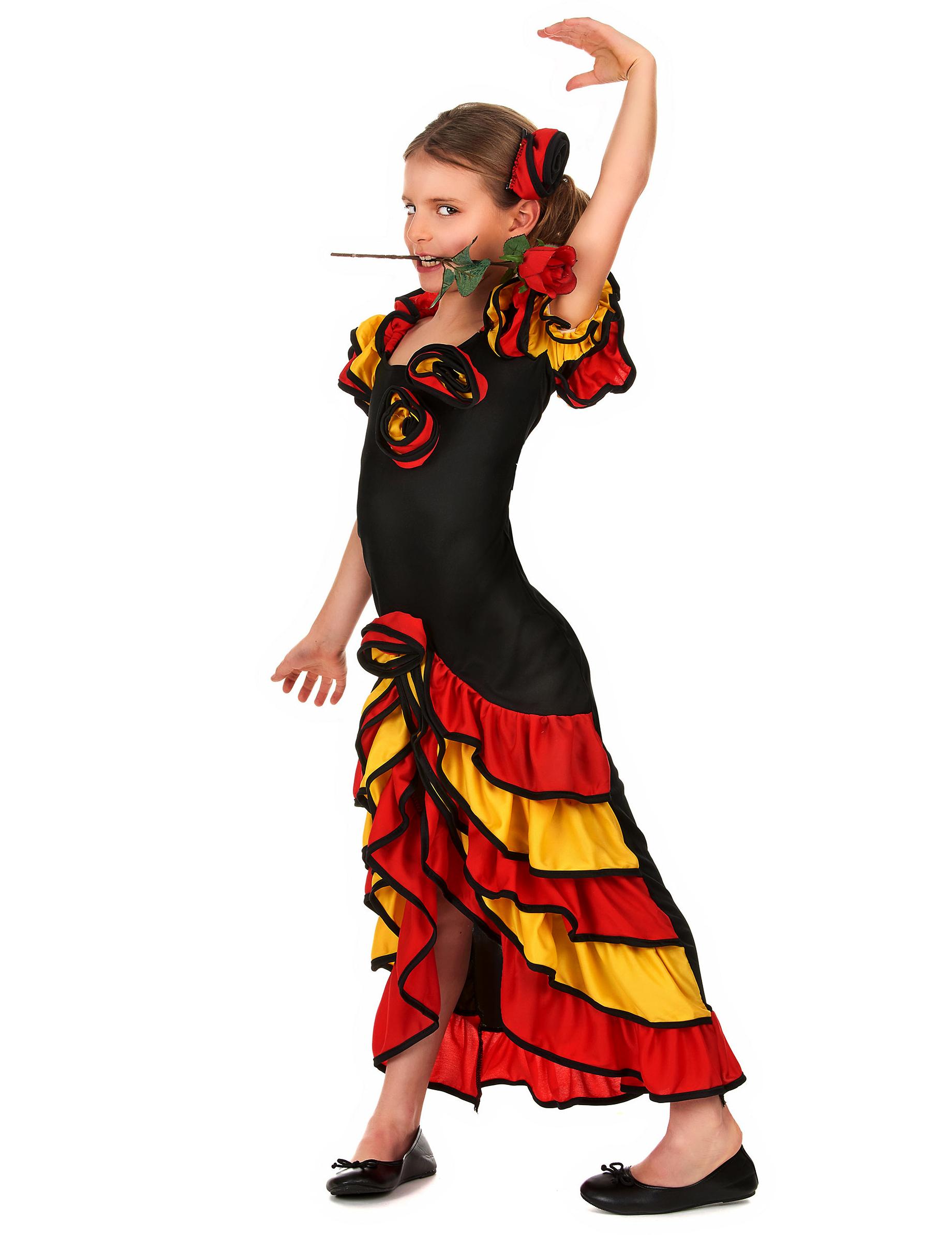 d guisement danseuse espagnole fille deguise toi achat de d guisements enfants. Black Bedroom Furniture Sets. Home Design Ideas