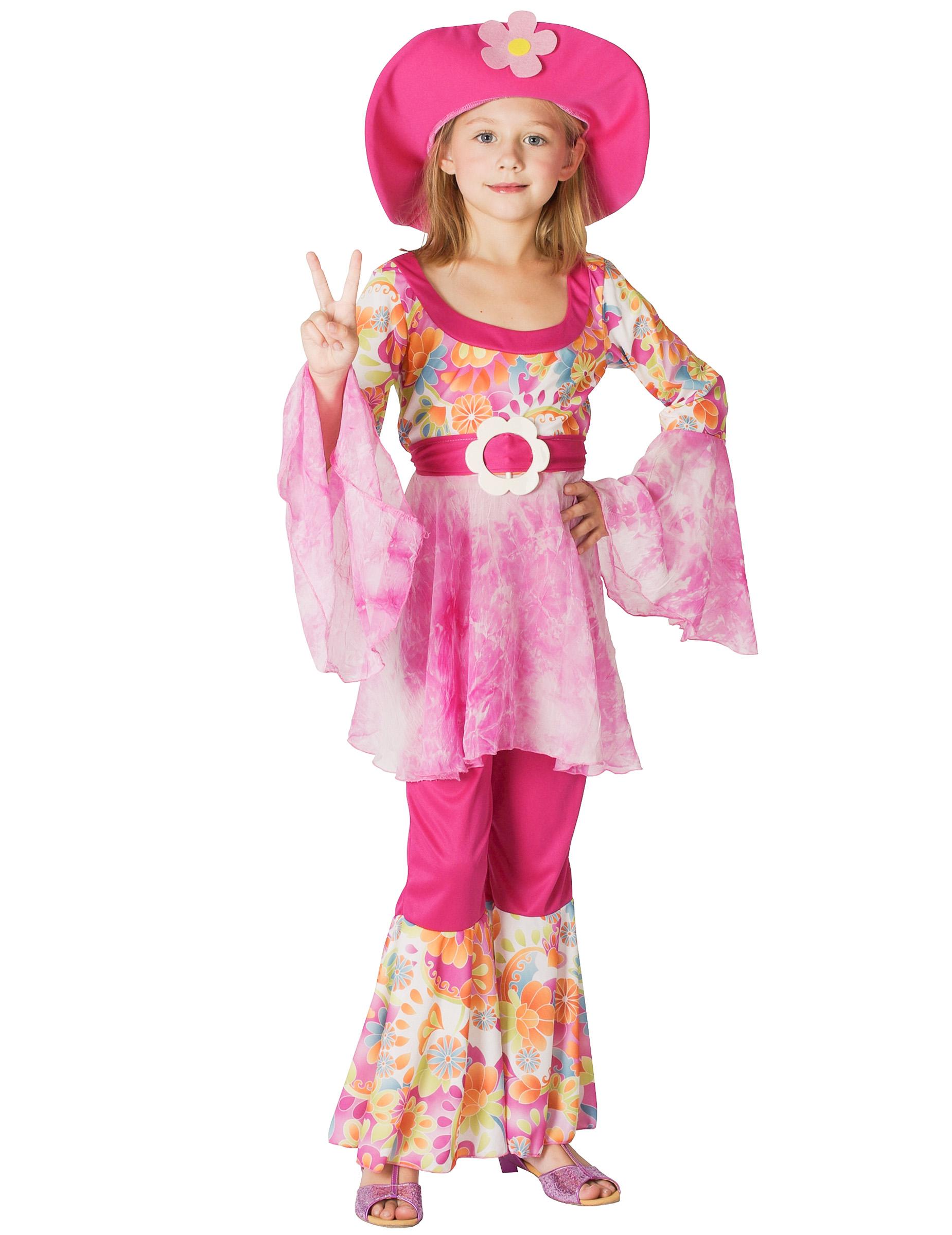 Déguisement hippie rose fille   Deguise-toi, achat de Déguisements ... 7365b53ee52c