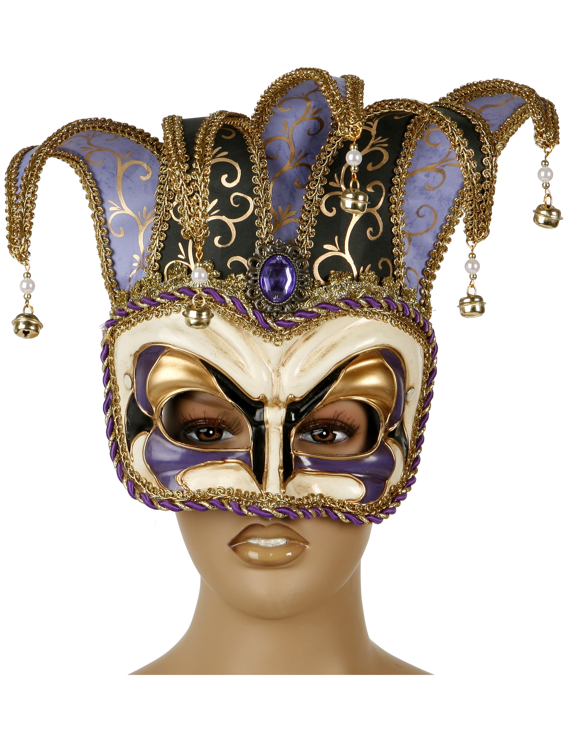 Venetian half mask : Masks, and fancy dress costumes - Vegaoo