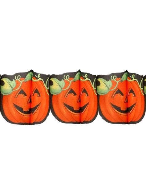Halloween pumpkin garland : Decorations, and fancy dress costumes ...