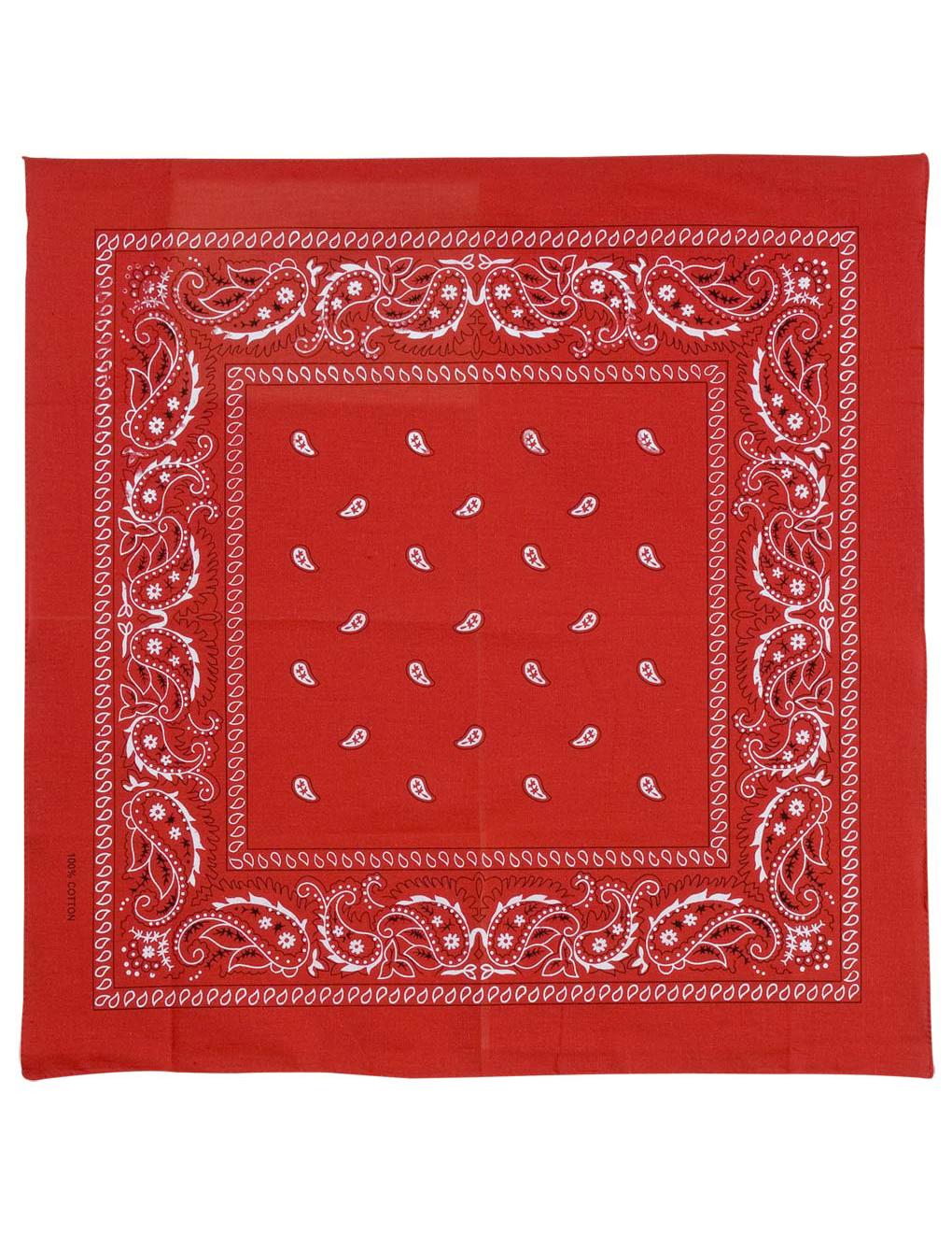 Bandana tuch rot accessoires und g nstige faschingskost me vegaoo - Bandana tuch binden ...