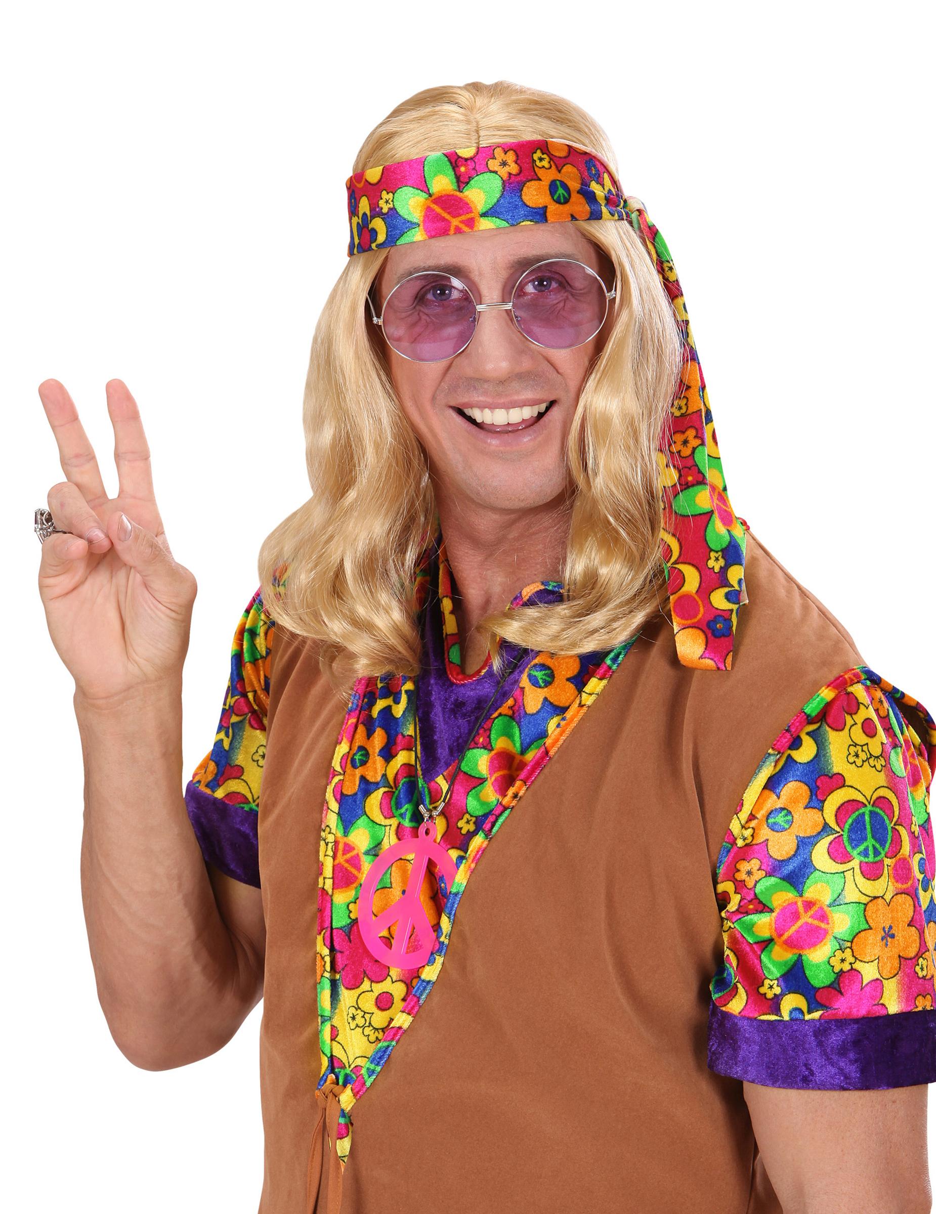 Perruque blonde hippie adulte deguise toi achat de perruques - Vetements hippie baba cool ...