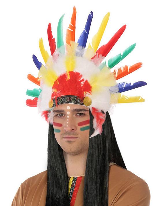 Coiffe d 39 indien adulte deguise toi achat de chapeaux - Maquillage indien homme ...