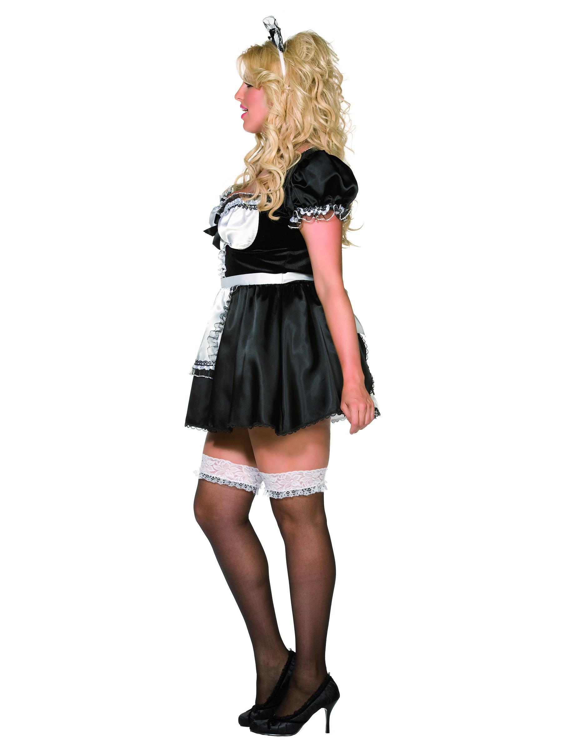 Outfit voor een kamermeisje voor vrouwen volwassenen kostuums en goedkope carnavalskleding - Klein kamermeisje ...