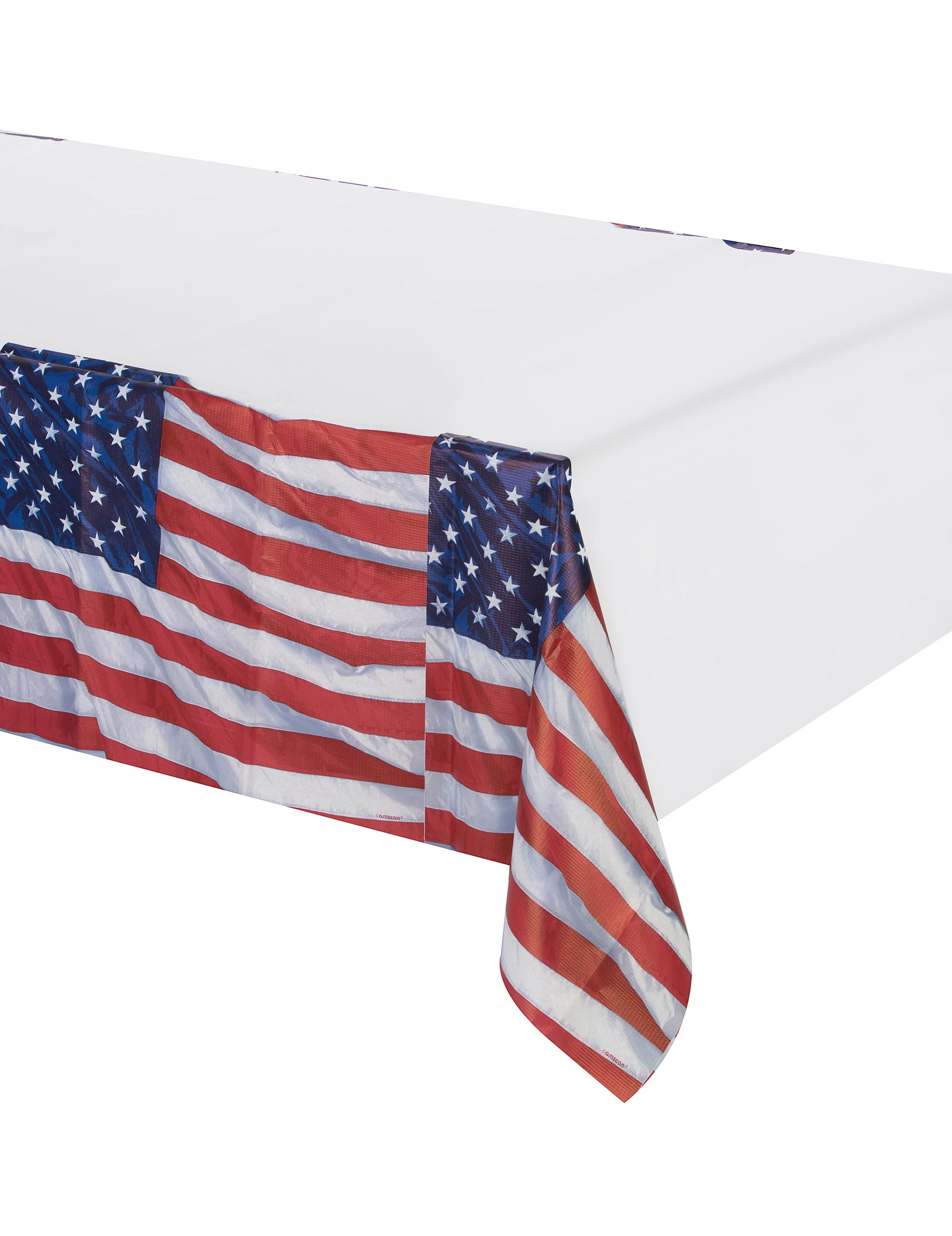 American flag tablecloth decorations and fancy dress for American flag decoration