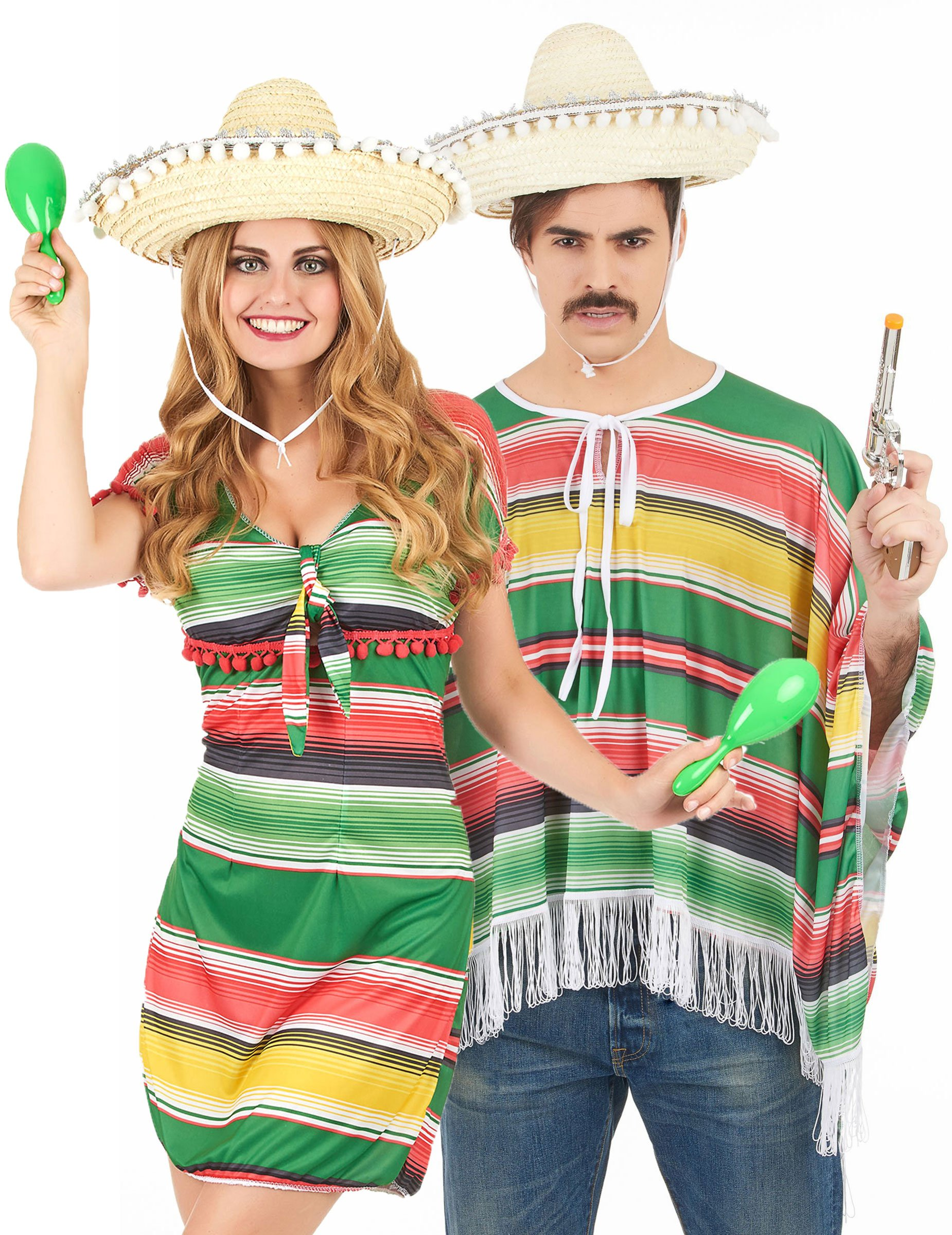 d guisement couple mexicains deguise toi achat de. Black Bedroom Furniture Sets. Home Design Ideas
