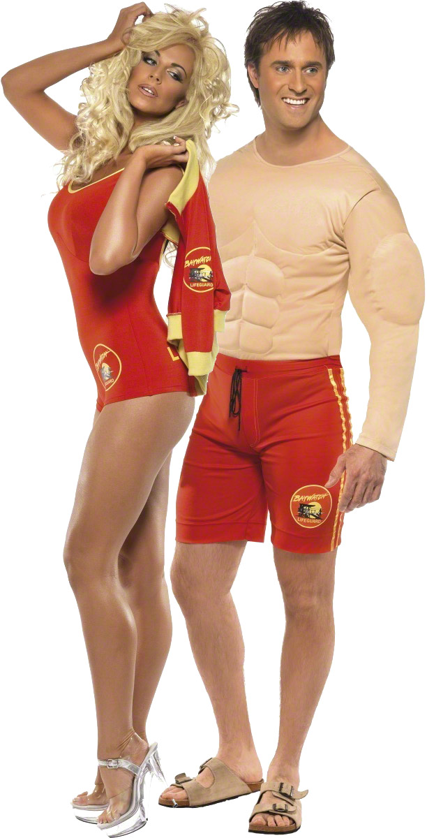 Baywatch micth and pamela costume for couples - Idee deguisement personnage de film ...