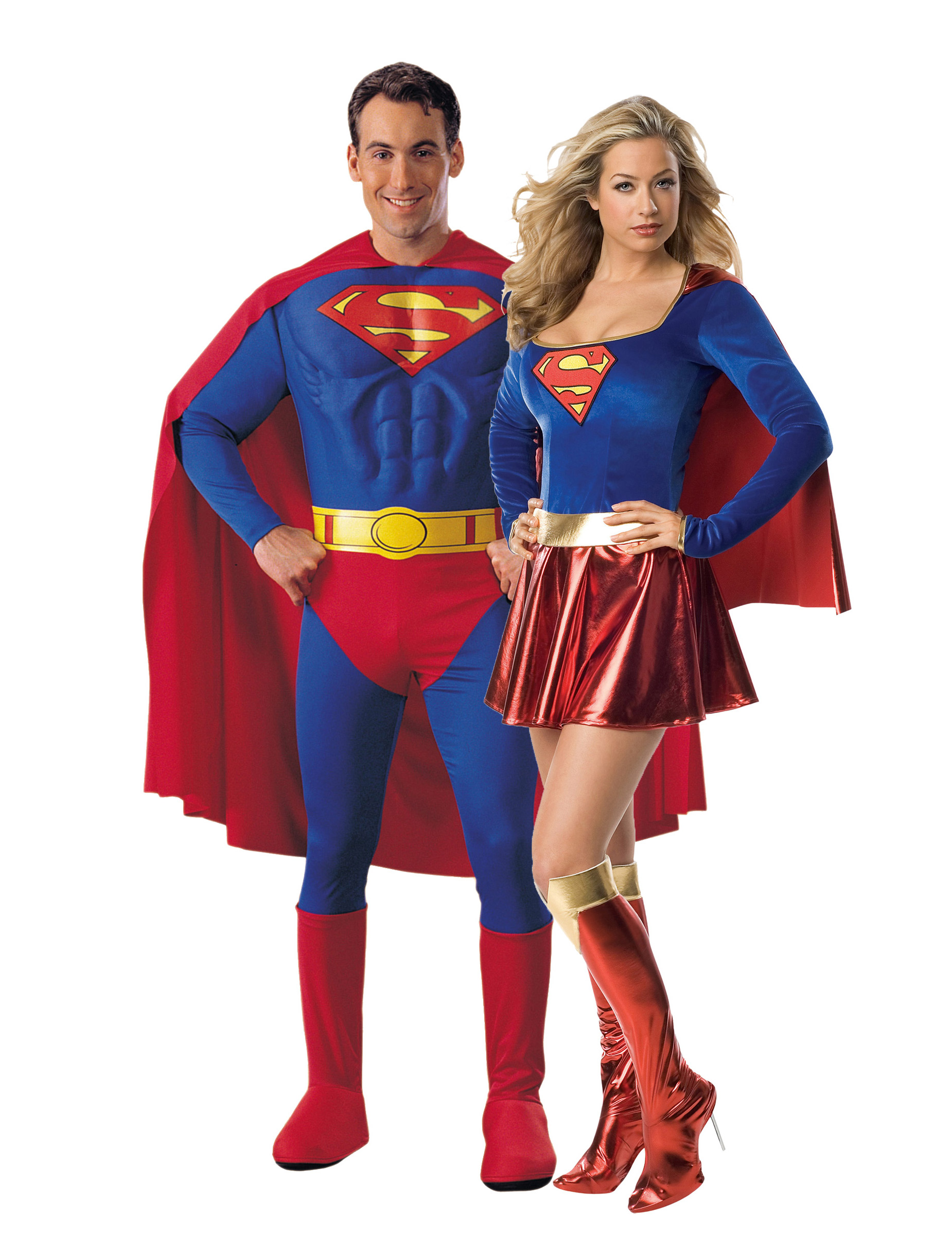d guisement couple superman et supergirl deguise toi achat de d guisements couples. Black Bedroom Furniture Sets. Home Design Ideas