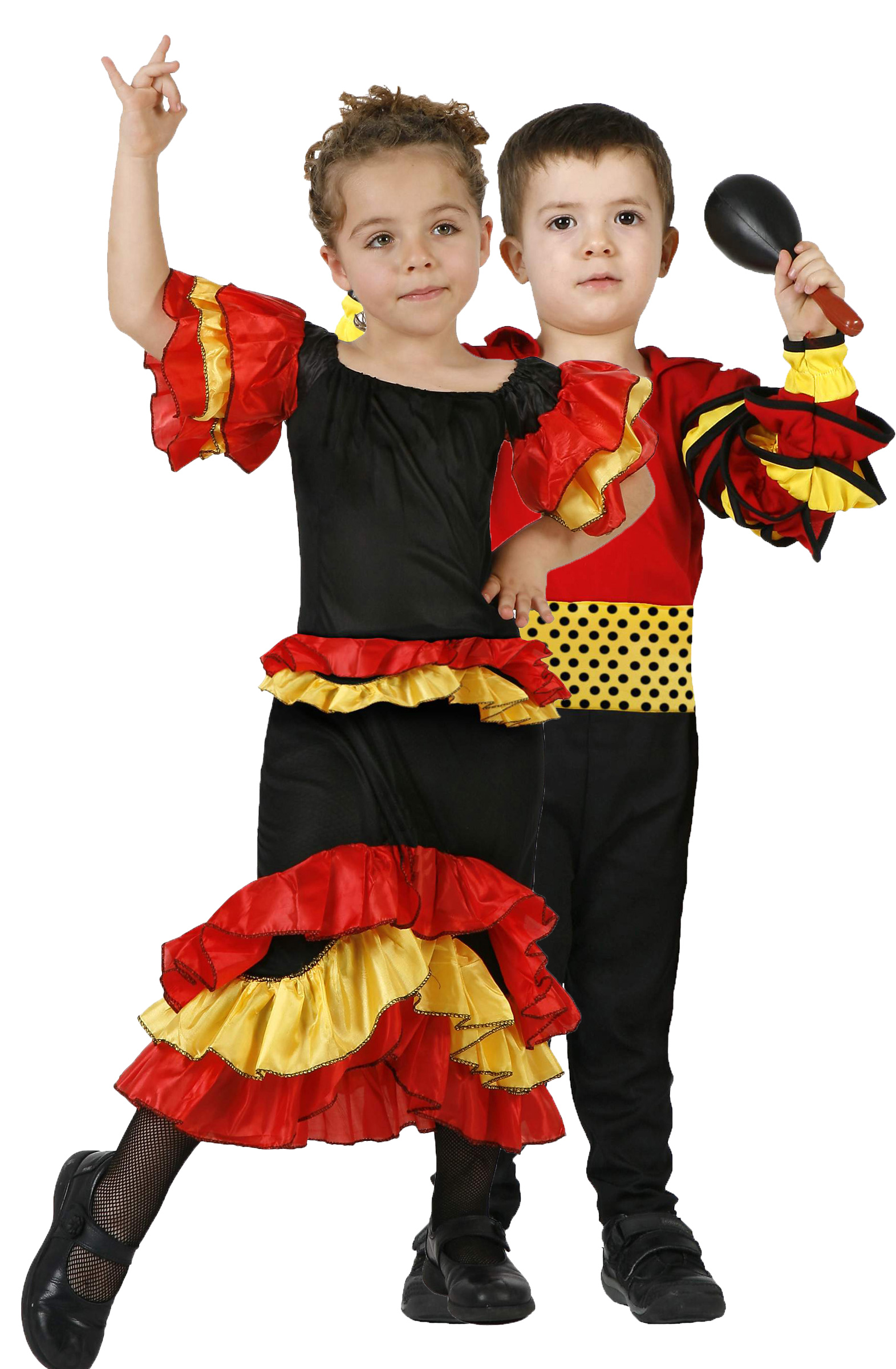 Disfraz infantil de pareja de rumbero y rumbera