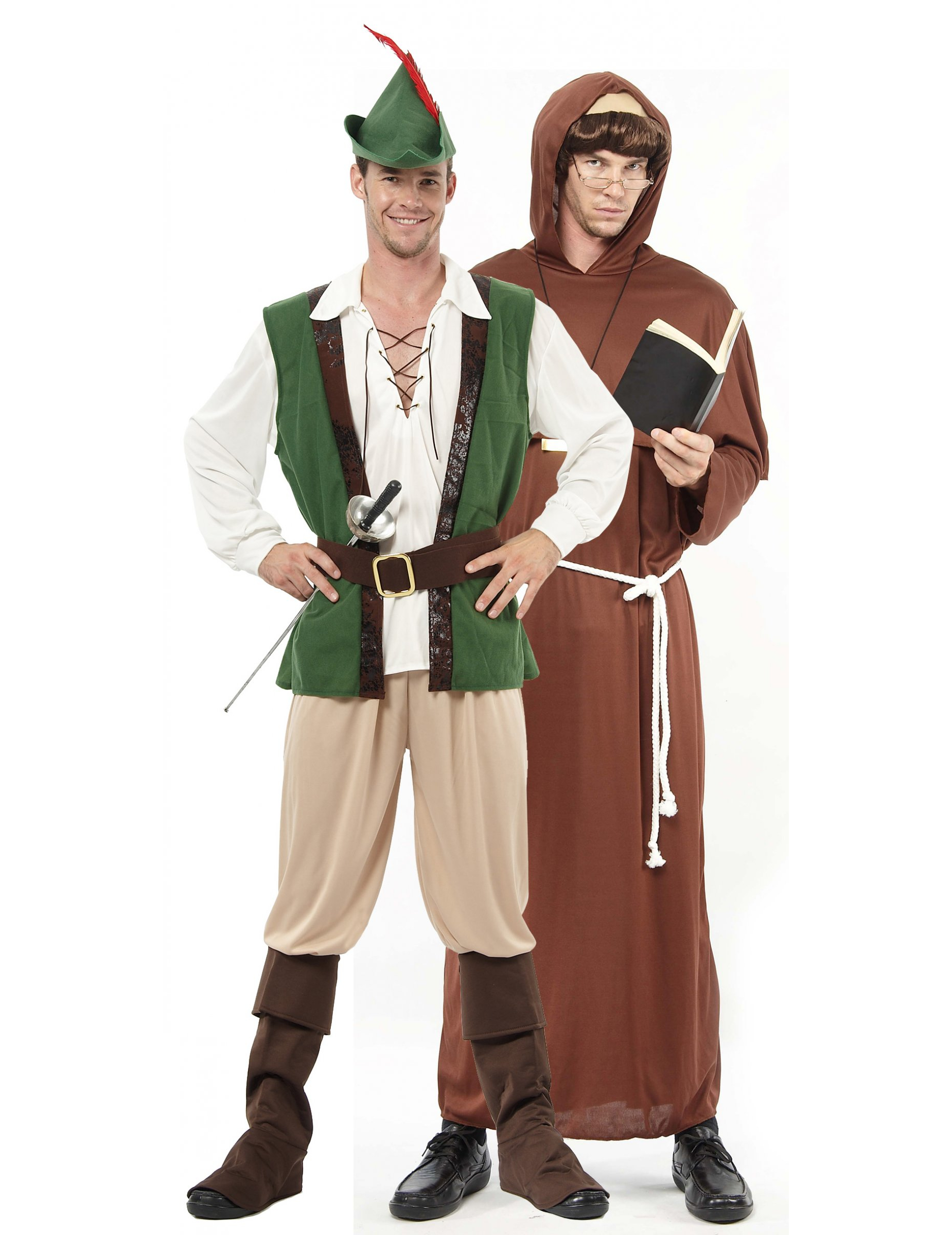 Duo Robin and monk costumes ~ Costume Robin Des Bois