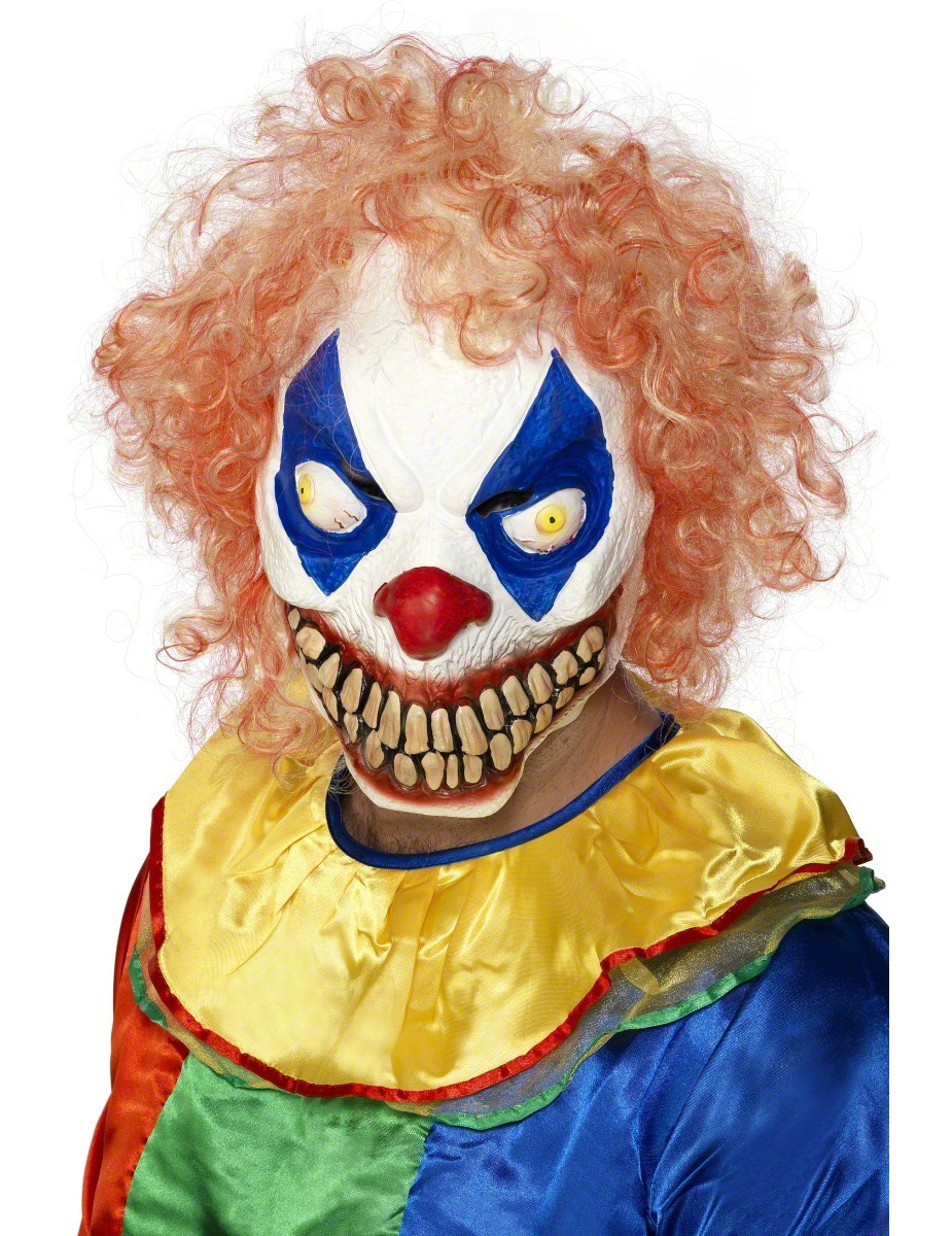 Masque halloween for Decoration fenetre clown