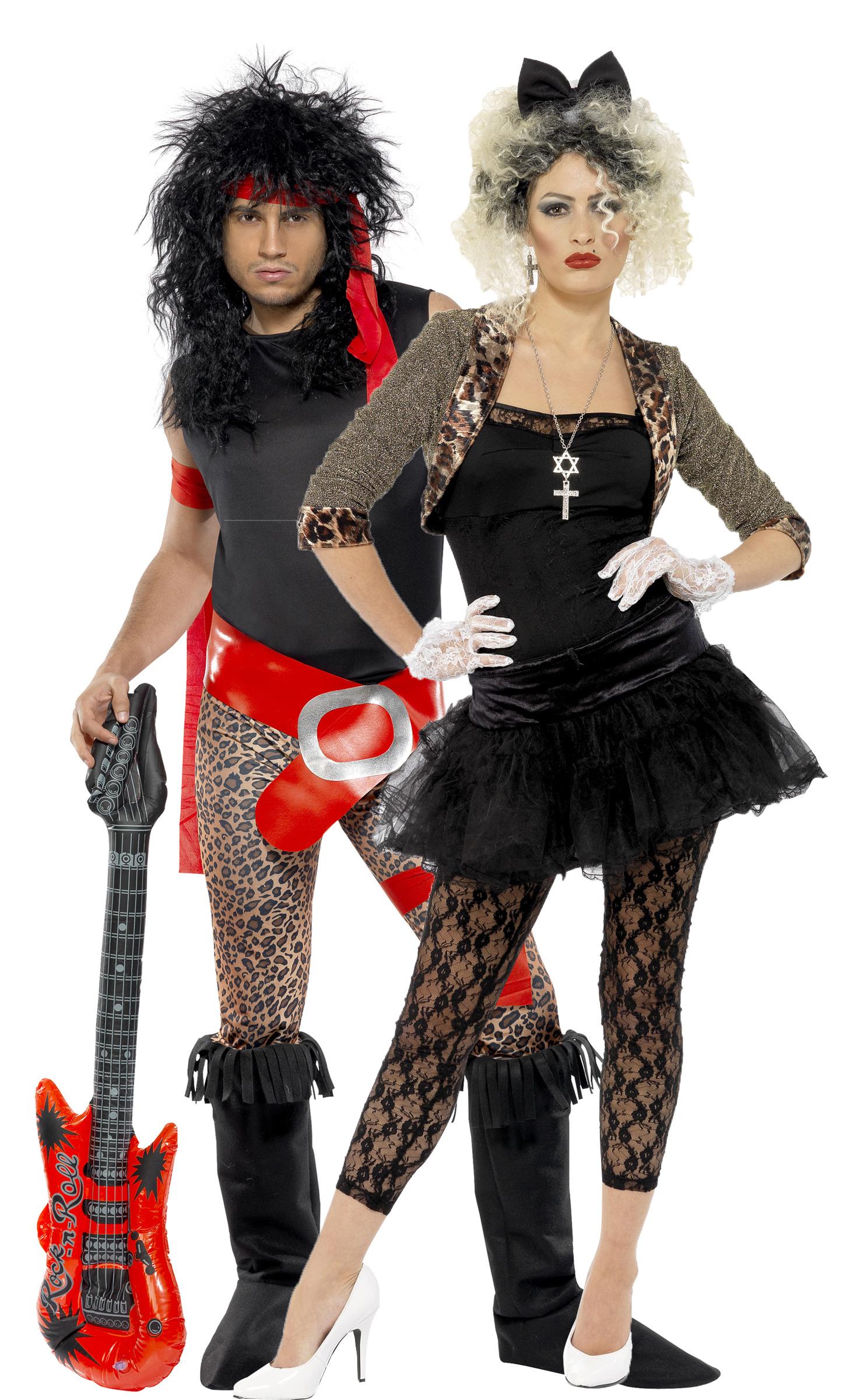 80 39 s rock costume for couple. Black Bedroom Furniture Sets. Home Design Ideas