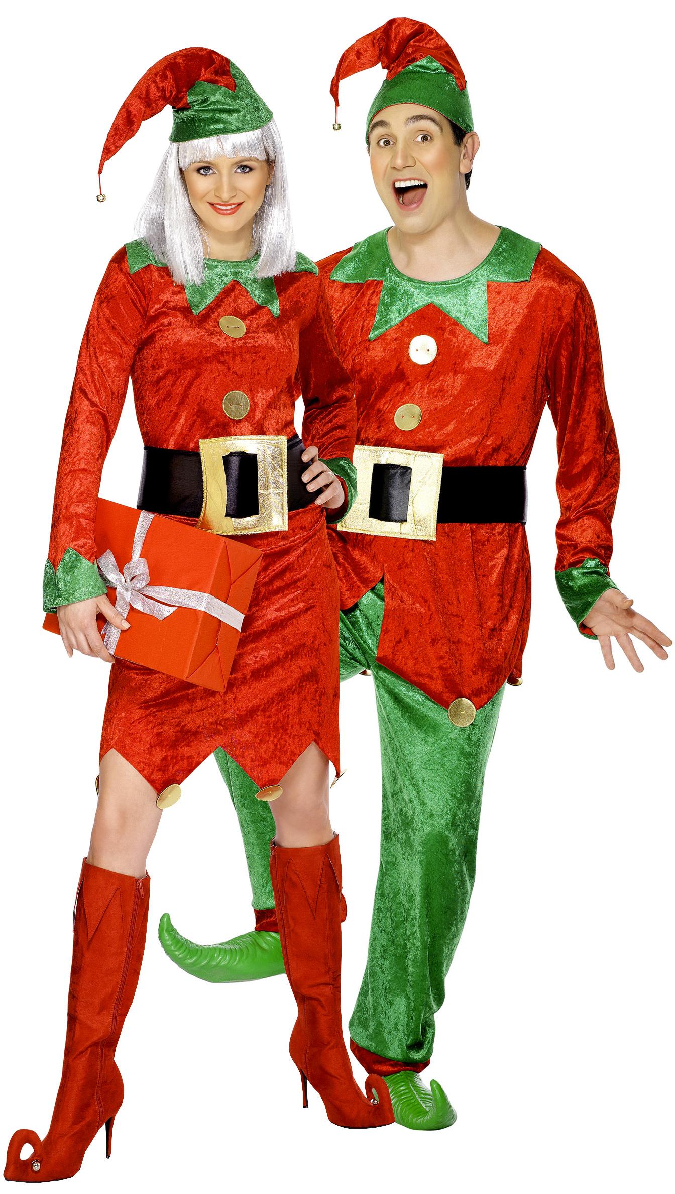 Disfraz de pareja de duendes de navidad disfraces - Disfraces de navidad originales ...