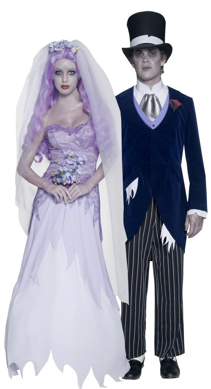 deguisements couple mariés gothique