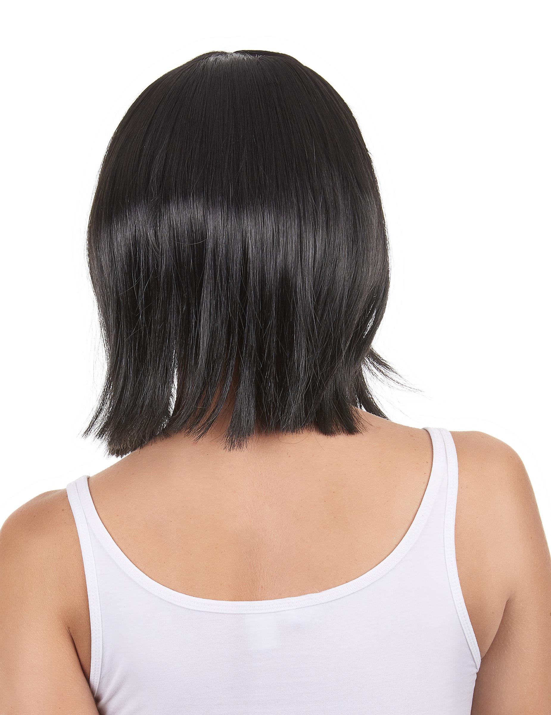 Perruque noire carré plongeant femme, achat de Perruques sur VegaooPro, grossiste en déguisements