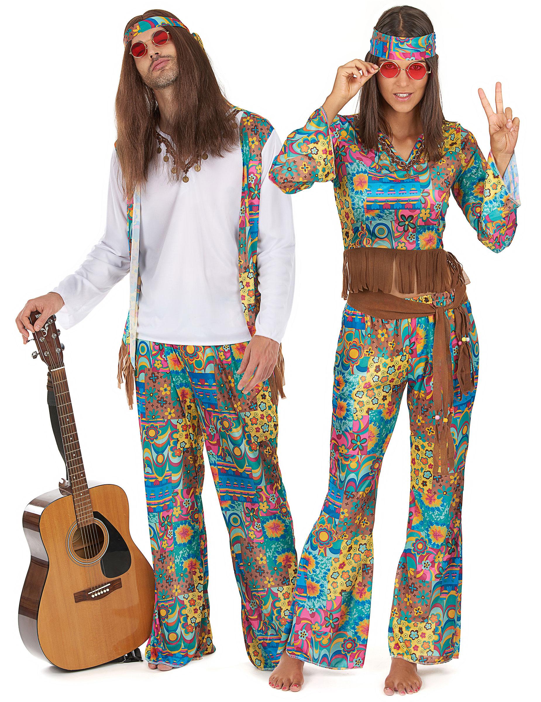 D guisement hippie pas cher - Accessoire maquillage pas cher ...