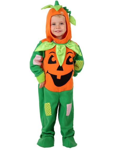 D guisement citrouille orange et vert enfant halloween - Trajes de calabaza ...