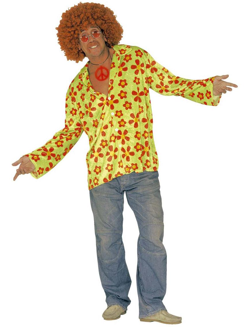hippie hemd f r herren kost me f r erwachsene und g nstige faschingskost me vegaoo. Black Bedroom Furniture Sets. Home Design Ideas