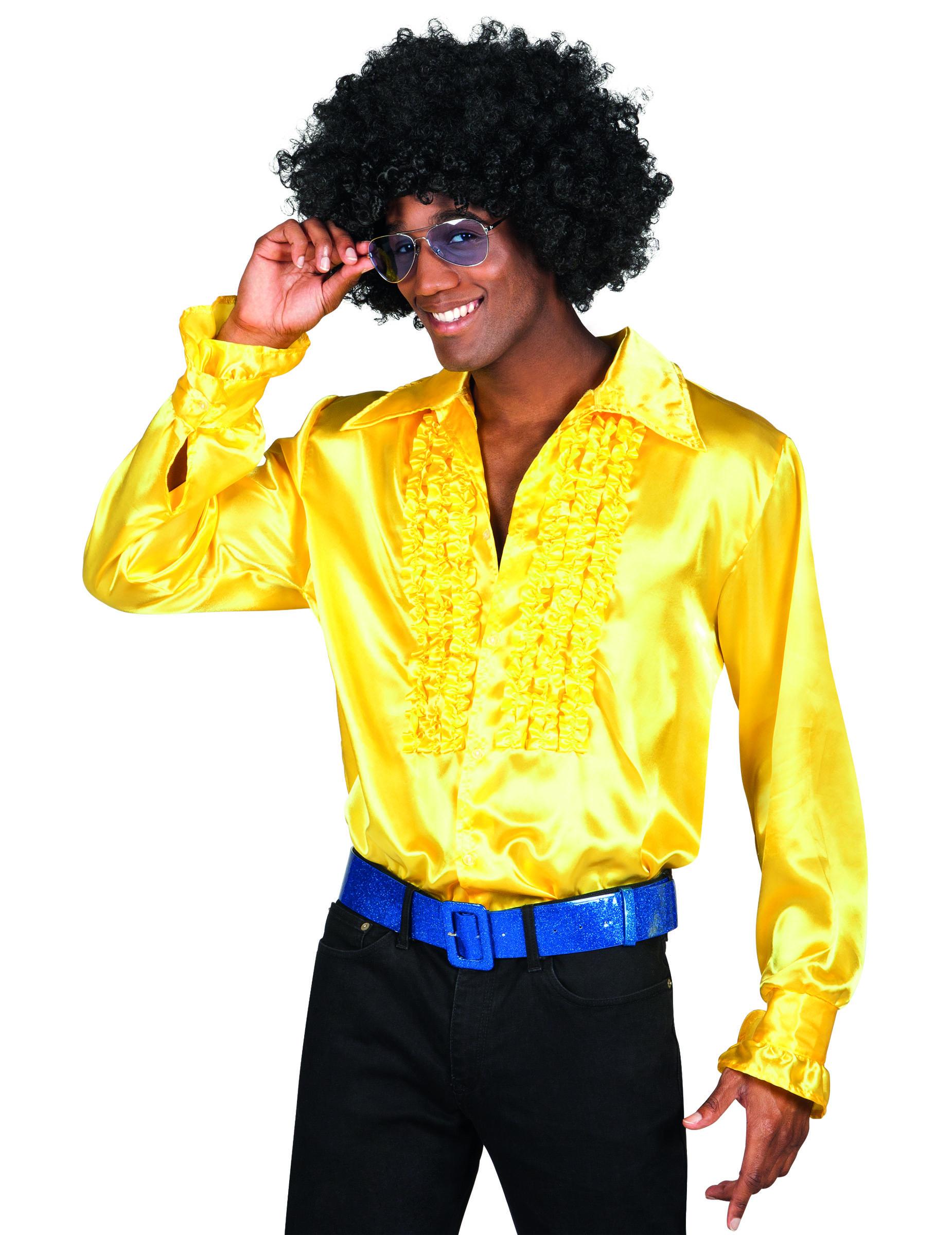 chemise disco jaune ann es 70 pour homme deguisetoi. Black Bedroom Furniture Sets. Home Design Ideas