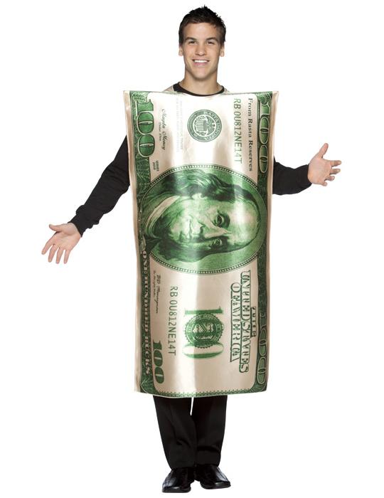 deguisement billet dollar