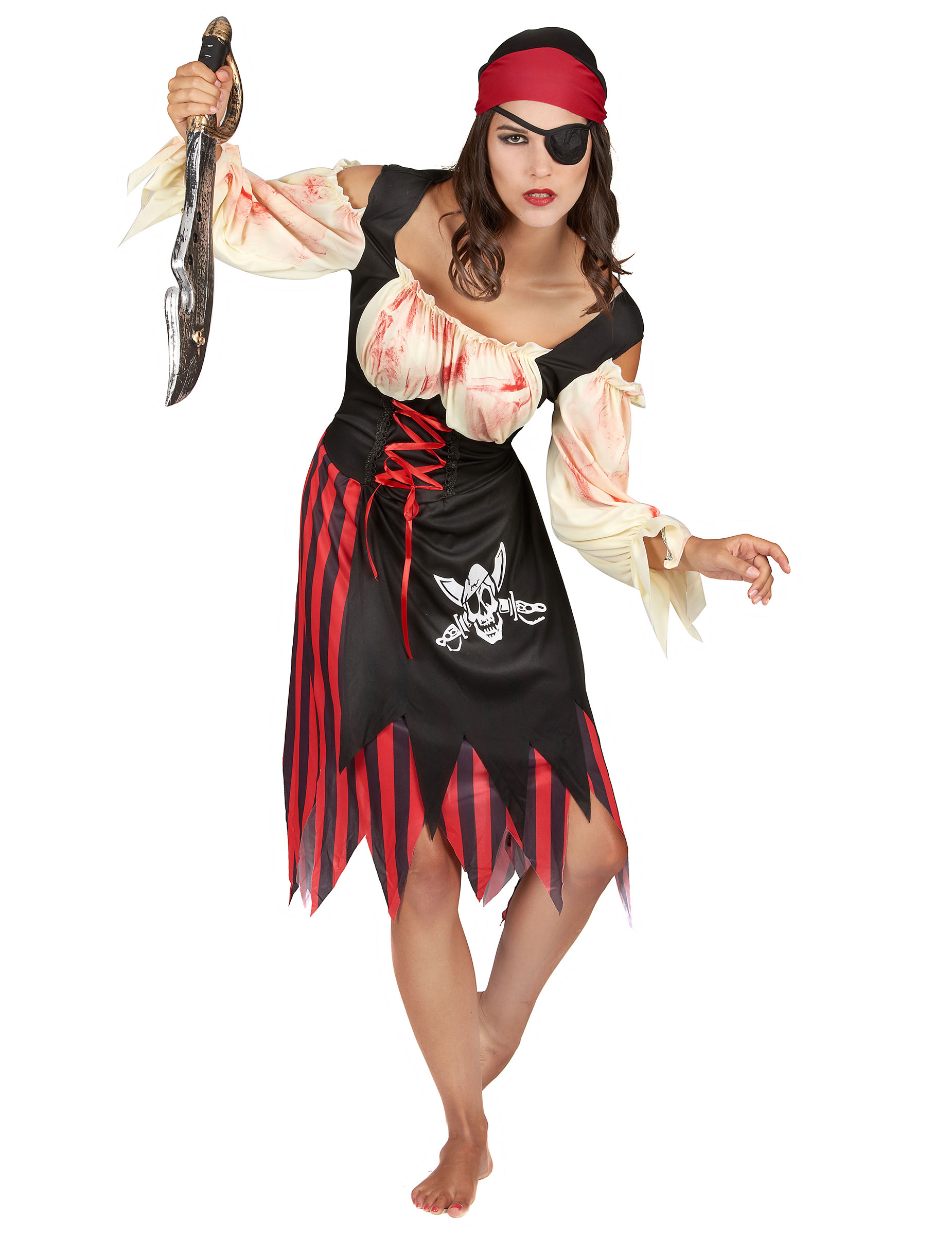 d guisement pirate zombie adulte halloween pour femme. Black Bedroom Furniture Sets. Home Design Ideas