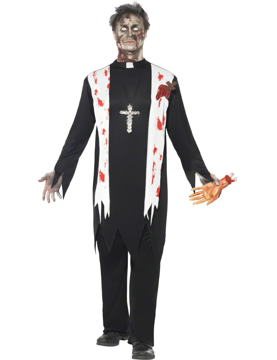 zombie priest costume. Black Bedroom Furniture Sets. Home Design Ideas