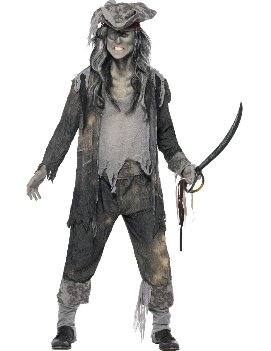 Main - Adults Costumes - Ghost pirate costume for men Halloween