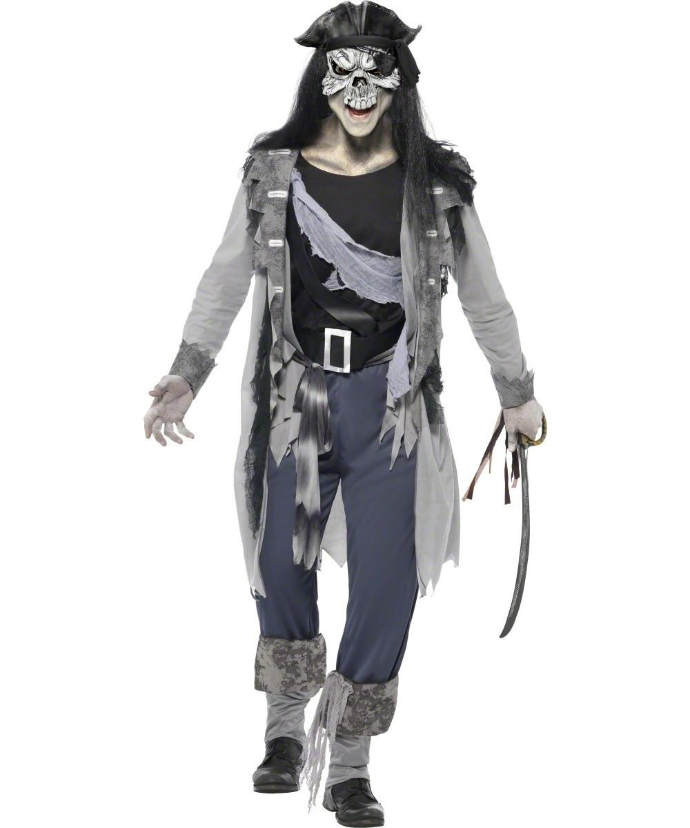 Ghost pirate costume for men halloween for Comcostume halloween homme original