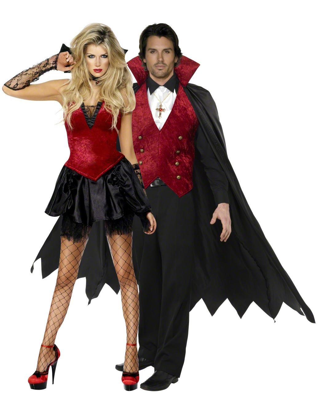 halloween kost m vampirpaar paarkost me und g nstige faschingskost me vegaoo. Black Bedroom Furniture Sets. Home Design Ideas