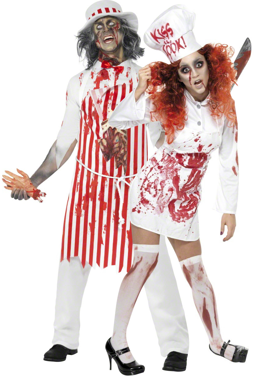 D guisement de couple bouchers - Deguisement halloween couple ...